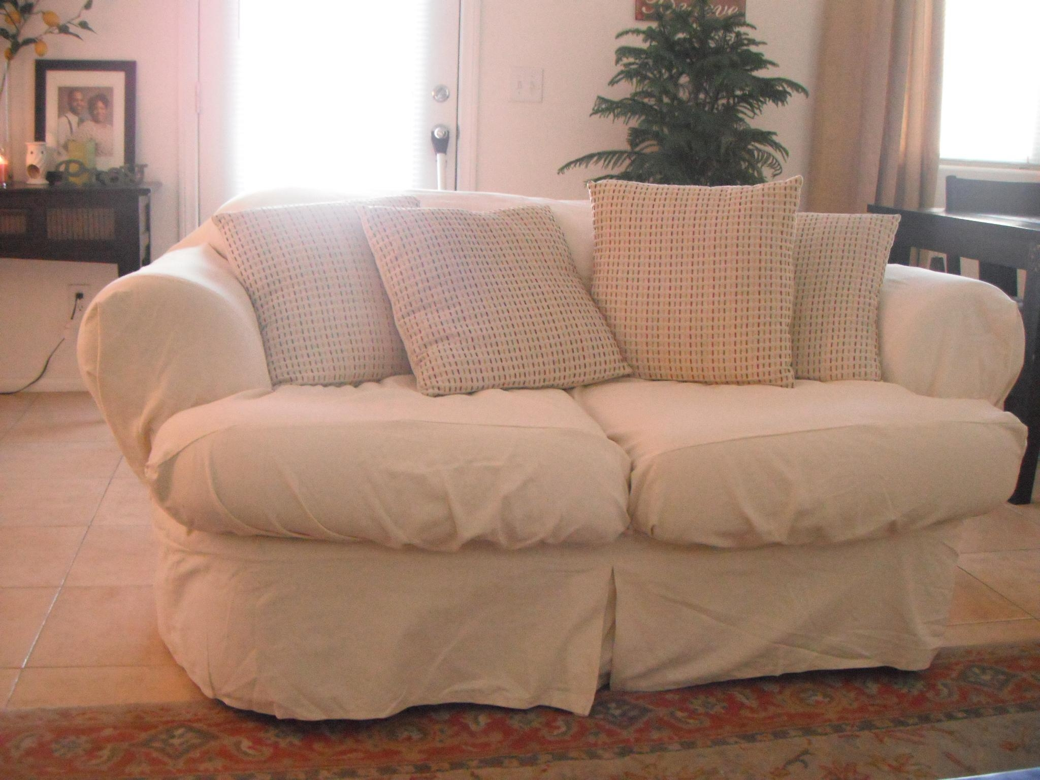 Furniture & Sofa: Stunning Sure Fit Sofa Covers Design For With Armless Couch Slipcovers (View 11 of 20)