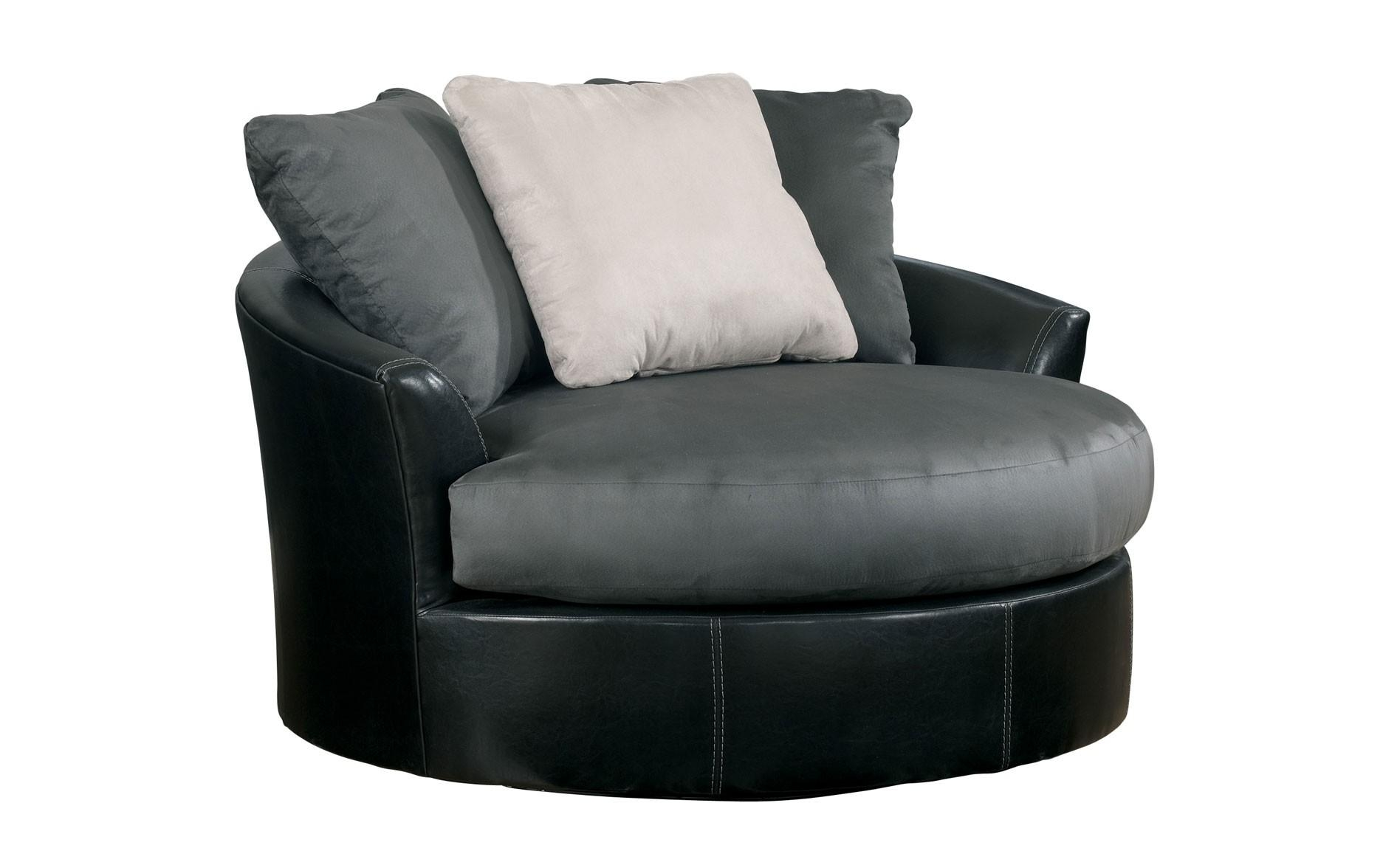 Furniture: Sophisticated Oversized Round Swivel Chair With Within Spinning Sofa Chairs (View 12 of 20)