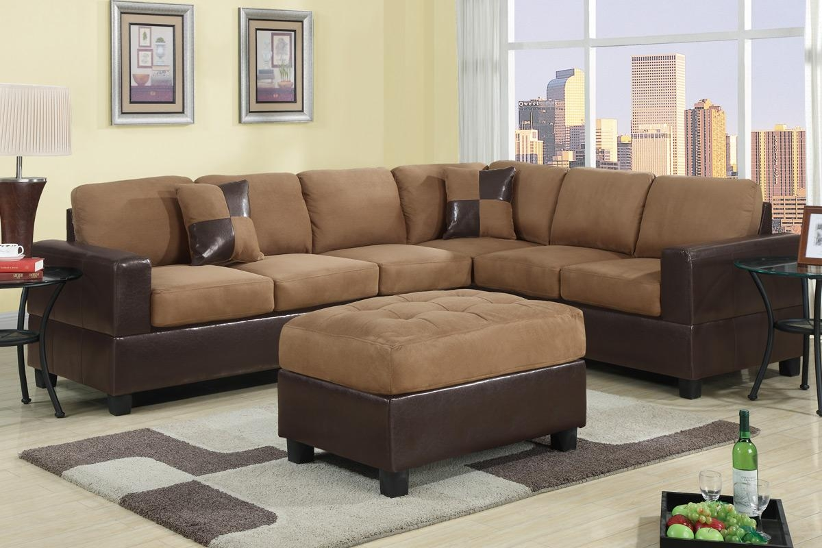 Furniture Stores Kent | Cheap Furniture Tacoma | Lynnwood For Leather And Suede Sectional (Image 4 of 20)