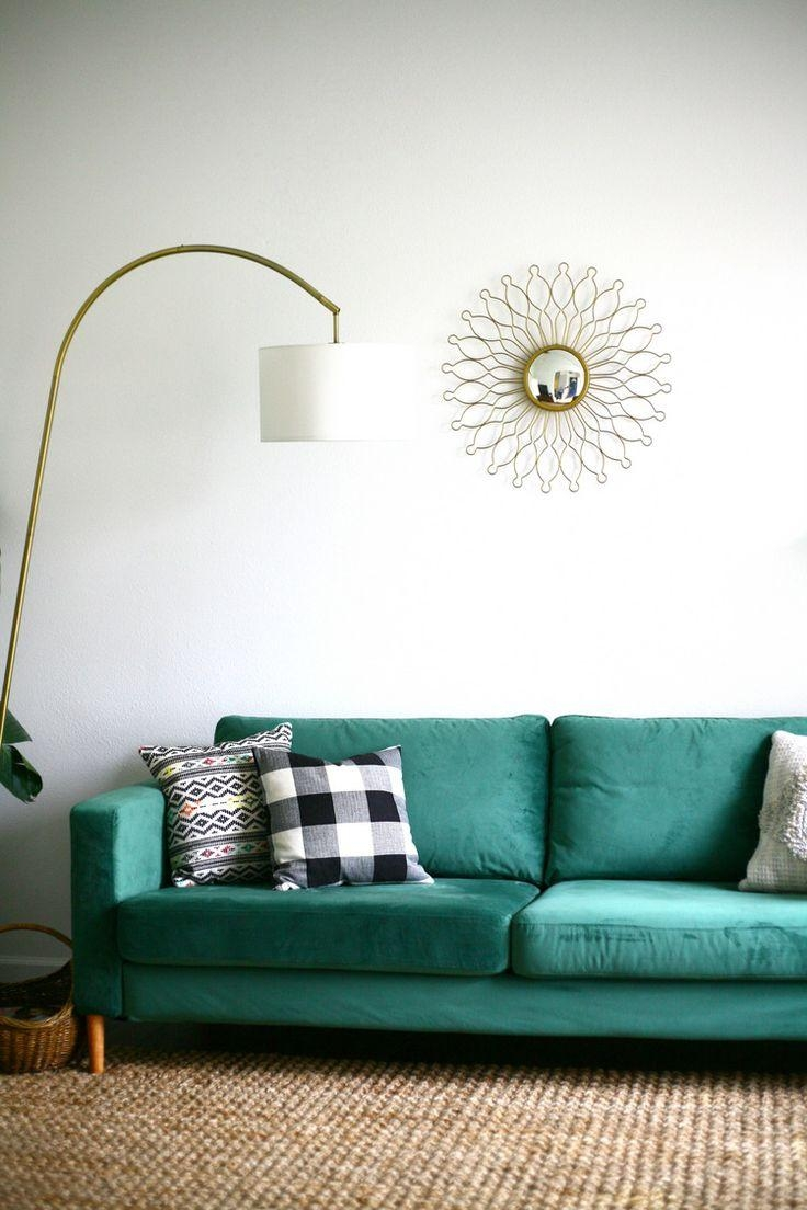 Furniture: Stunning Ikea Karlstad Sofa Cover For Your Sofa Need For Turquoise Sofa Covers (View 17 of 20)
