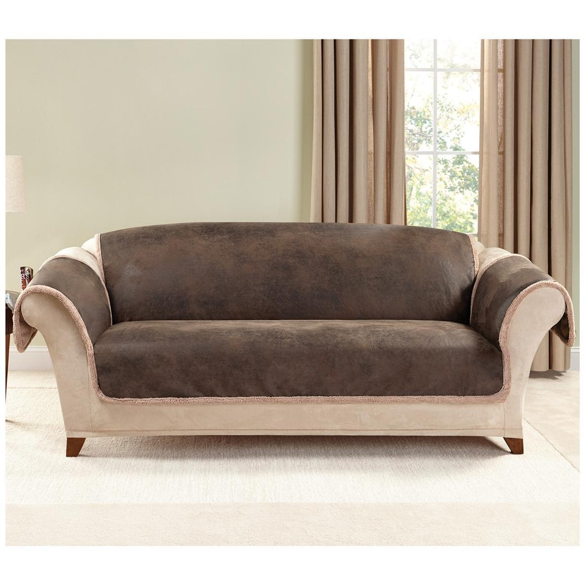 Furniture: Sure Fit Couch Covers | Sure Fit Sofa Covers | Couch With Regard To Armless Couch Slipcovers (Image 12 of 20)
