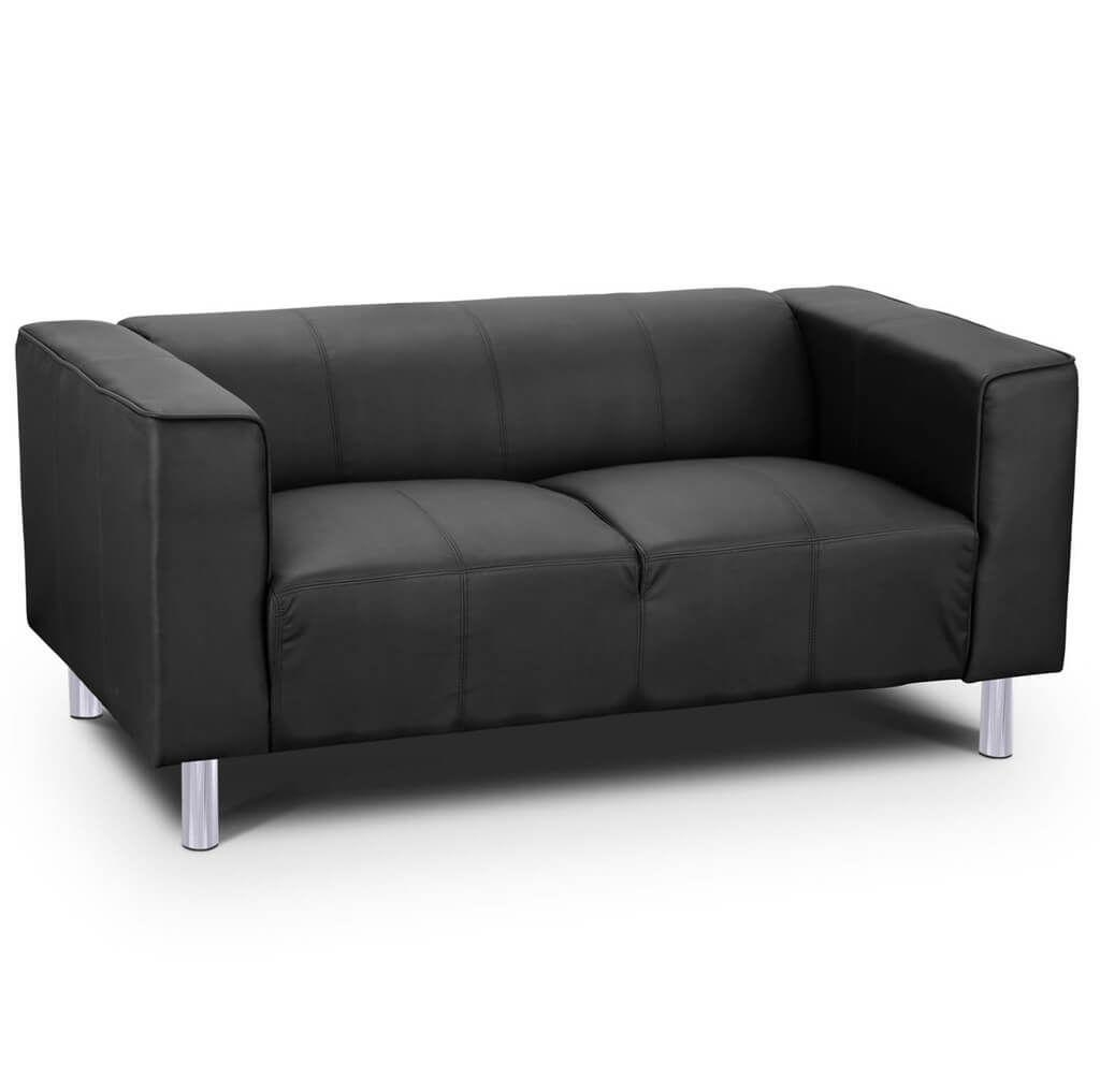 Furniture: Toscana Black Leather 2 Seater Sofa Ideas – Tips In Black 2 Seater Sofas (View 20 of 20)