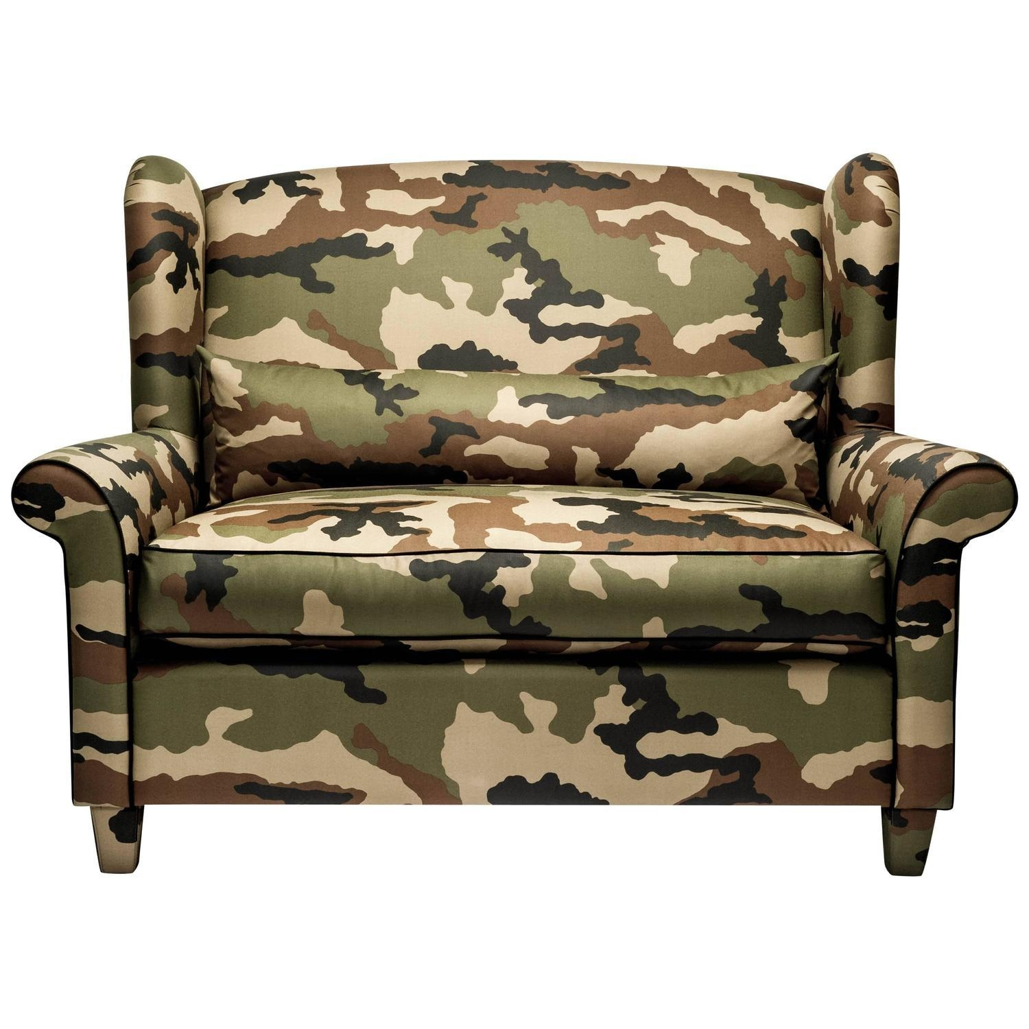 Furniture: Unique Pattern Sofa Decor Ideas With Camouflage Pertaining To Camo Reclining Sofas (View 14 of 20)