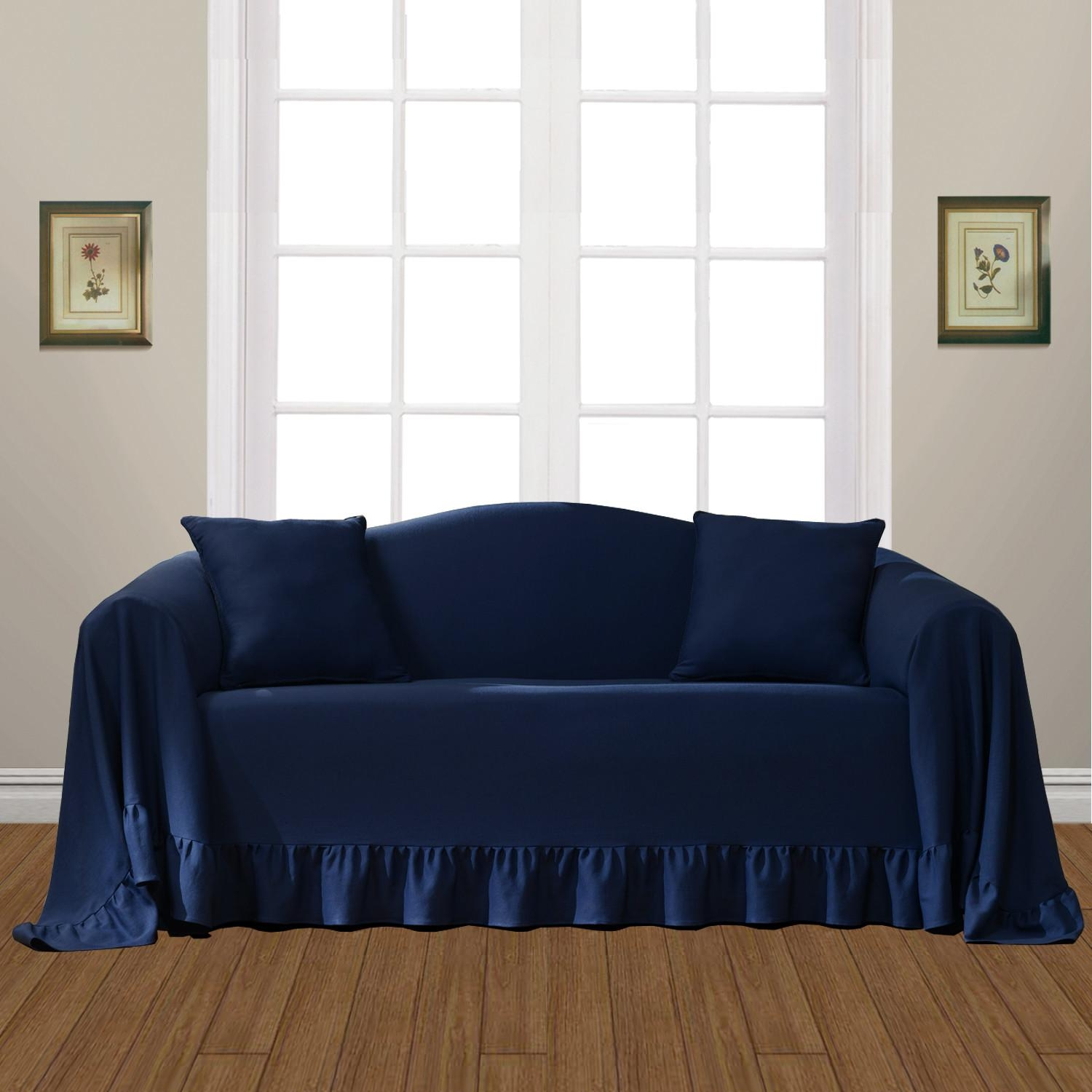 Furniture: Update Your Cozy Living Room With Cheap Sofa Covers Within Black Sofa Slipcovers (Image 14 of 20)
