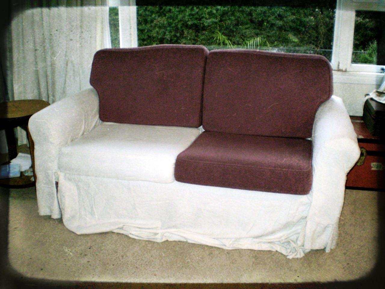 Furniture: Update Your Living Room With Best Sofa Slipcover Design In Canvas Slipcover Sofas (Image 7 of 20)