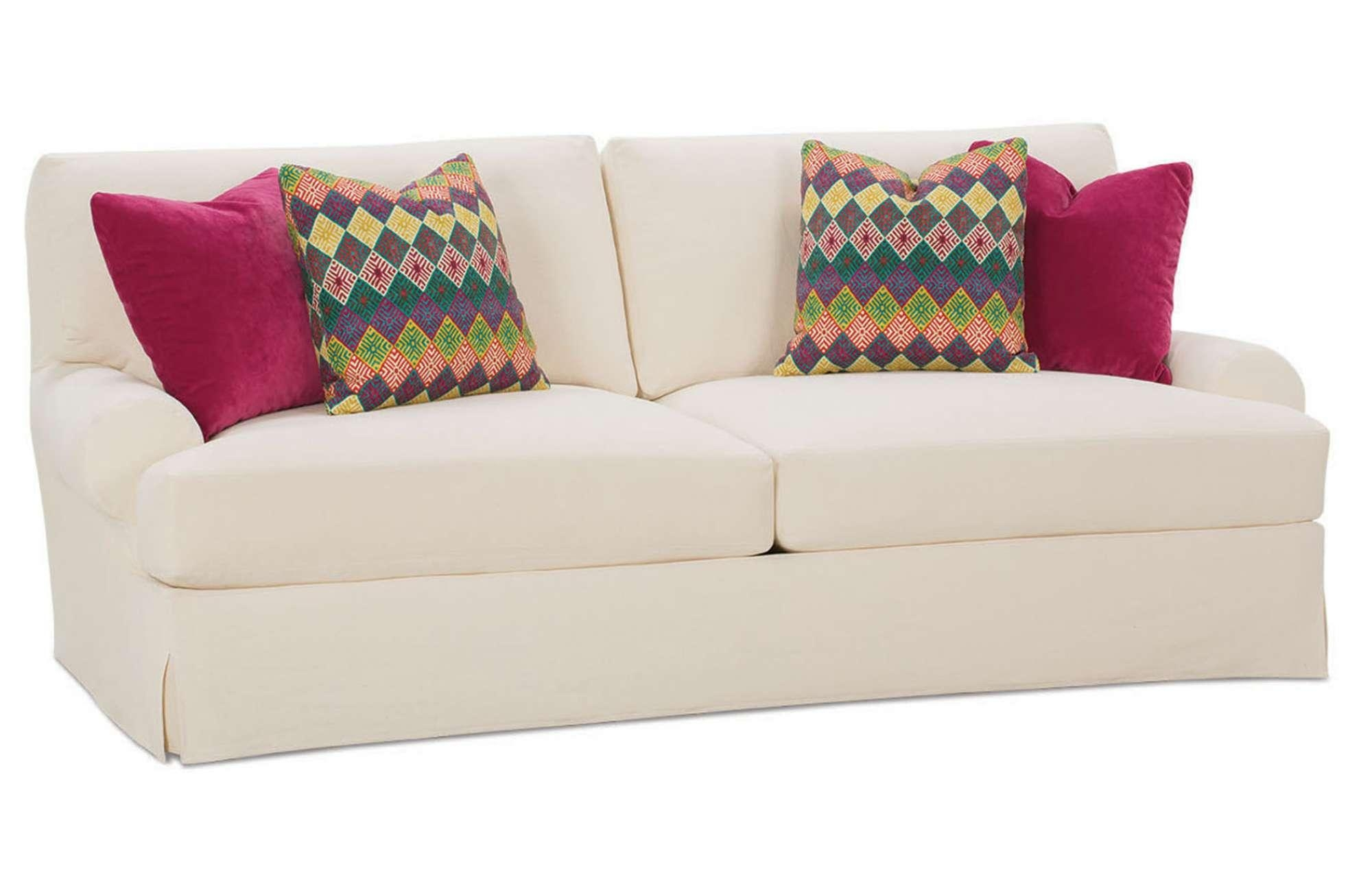 Furniture: Update Your Living Room With Best Sofa Slipcover Design Regarding Canvas Slipcover Sofas (Image 10 of 20)