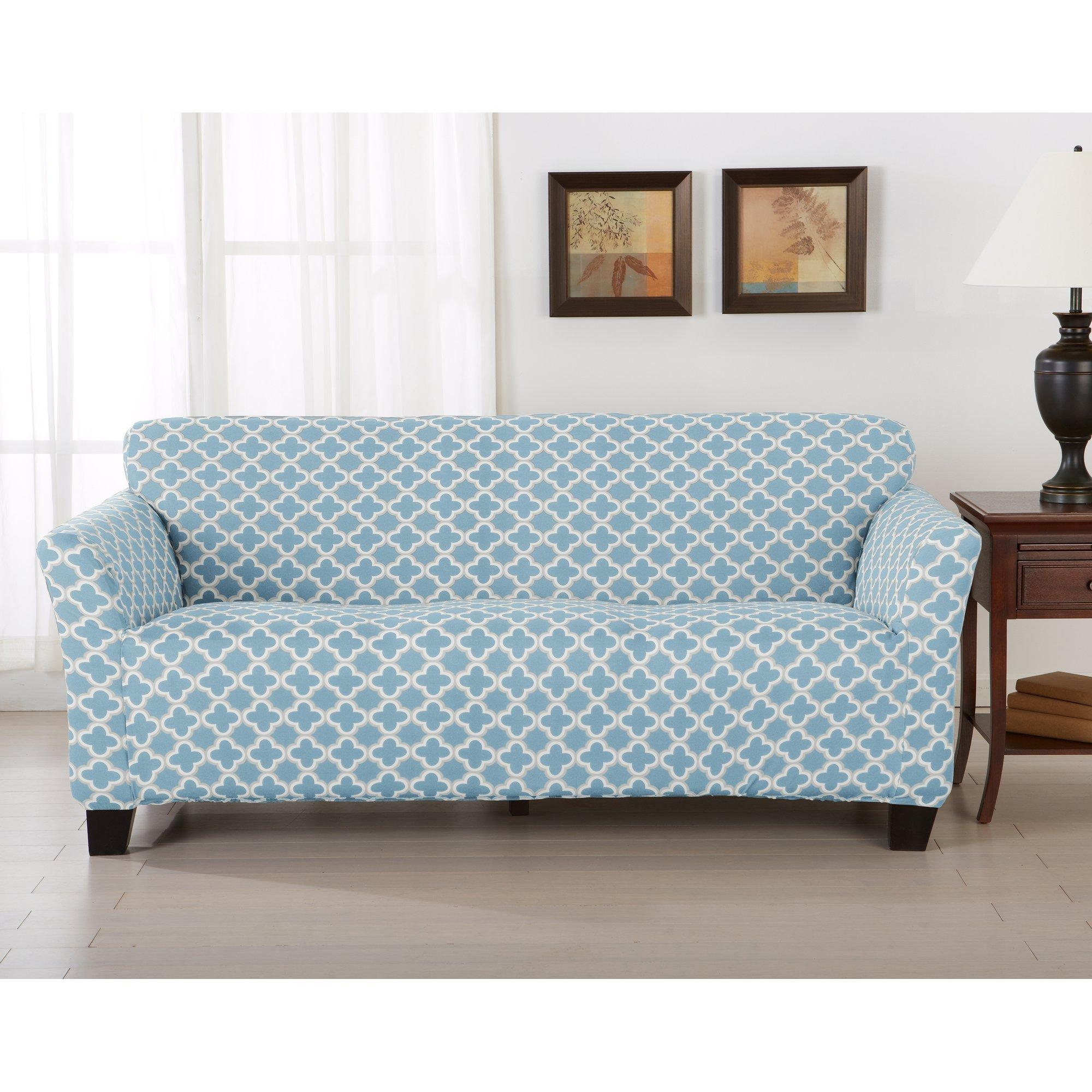 Furniture: Update Your Living Room With Best Sofa Slipcover Design Throughout Teal Sofa Slipcovers (View 1 of 20)
