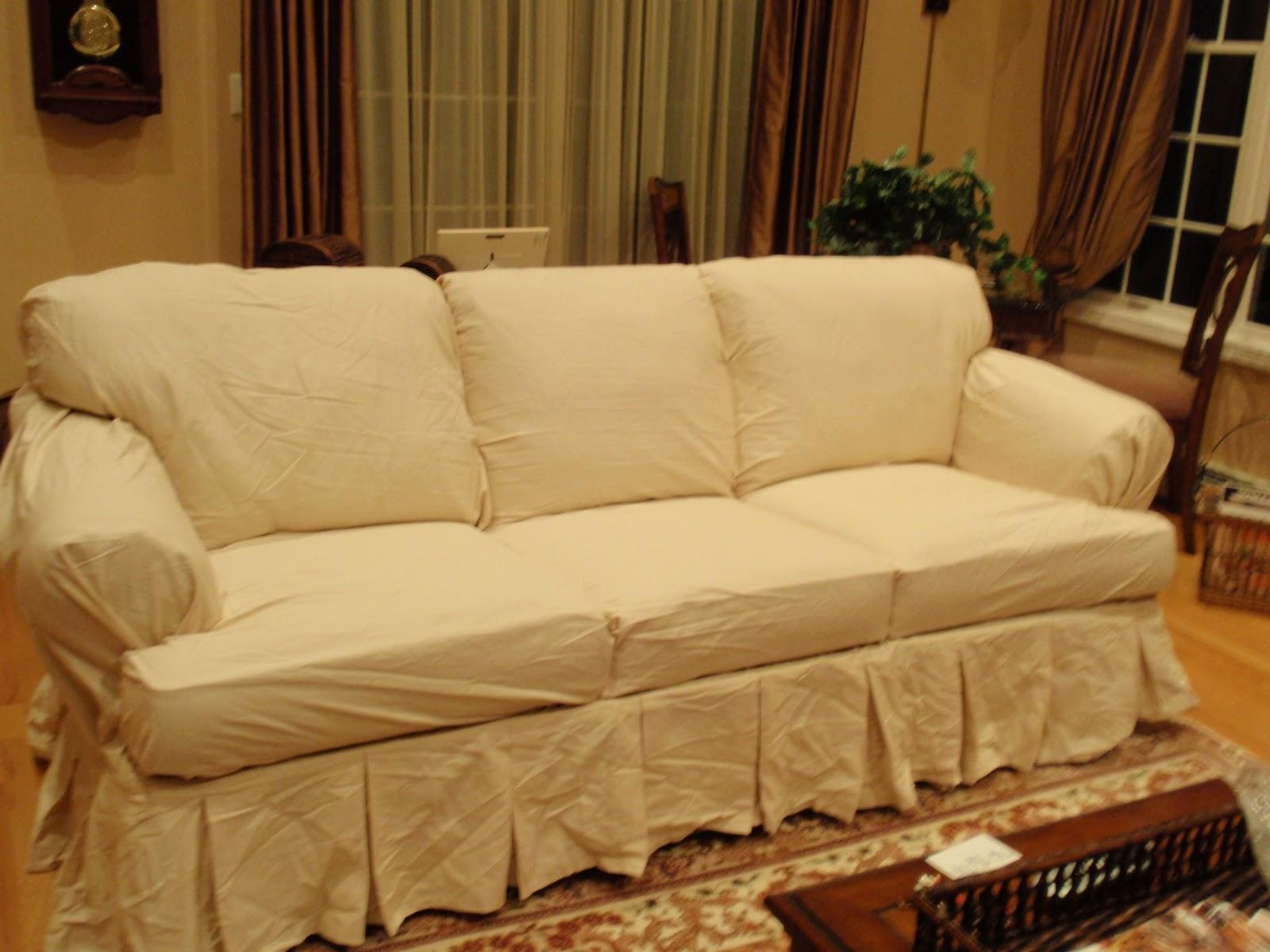Furniture: Update Your Living Room With Best Sofa Slipcover Design With Regard To Slipcovers For Sleeper Sofas (View 16 of 20)