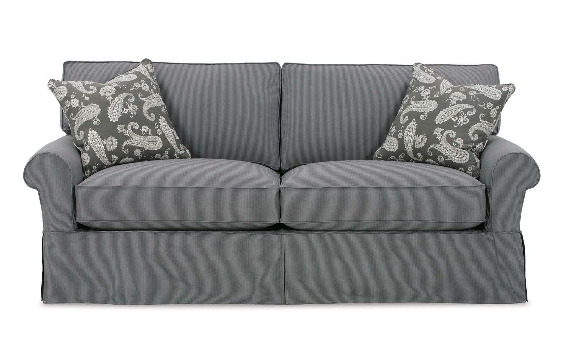 Furniture: Update Your Living Room With Best Sofa Slipcover Design Within Black Slipcovers For Sofas (Image 10 of 20)