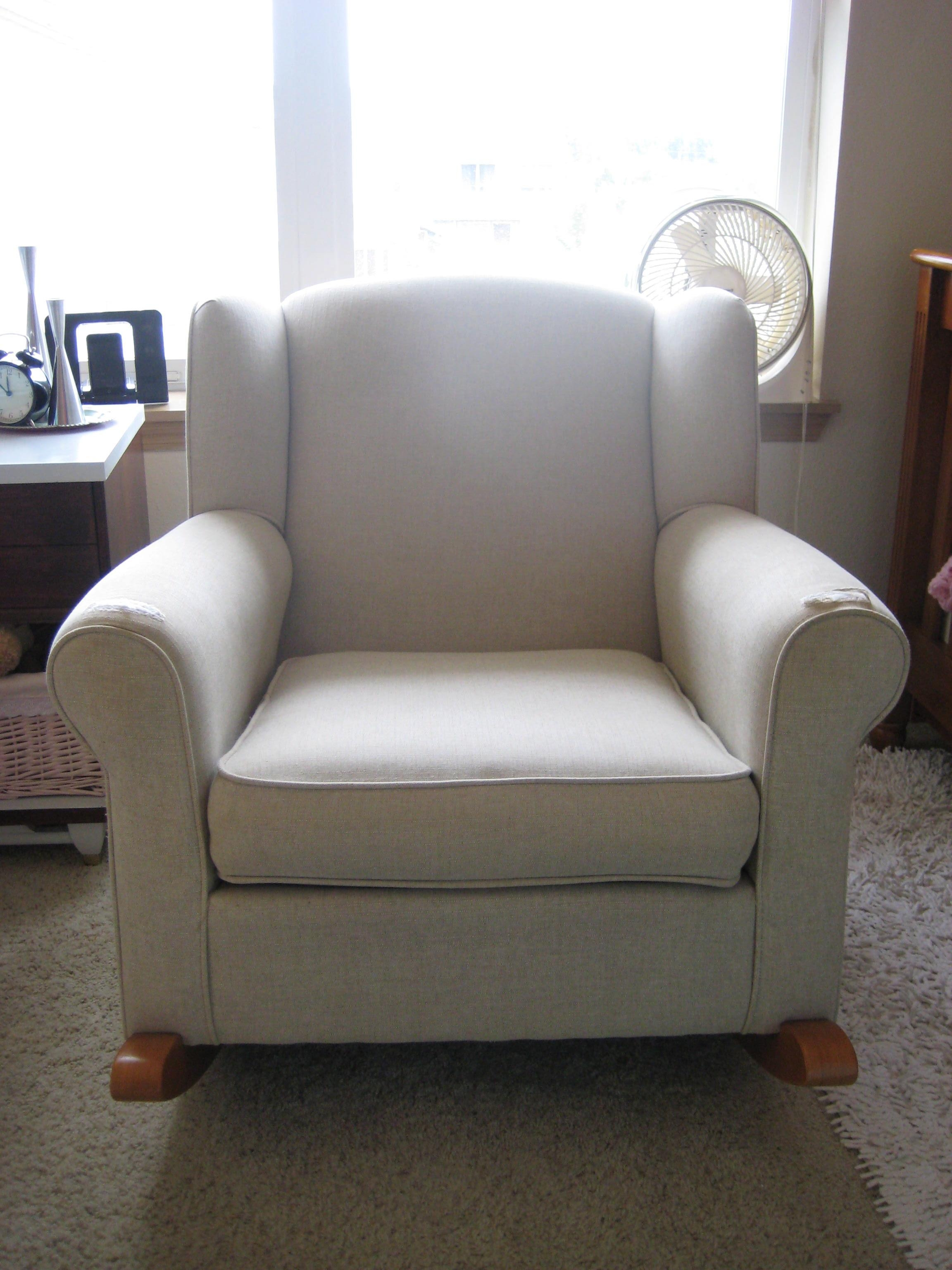 Furniture: Upholstered Rocking Chair | Nursery Rocker Chair Inside Sofa Rocking Chairs (View 18 of 20)