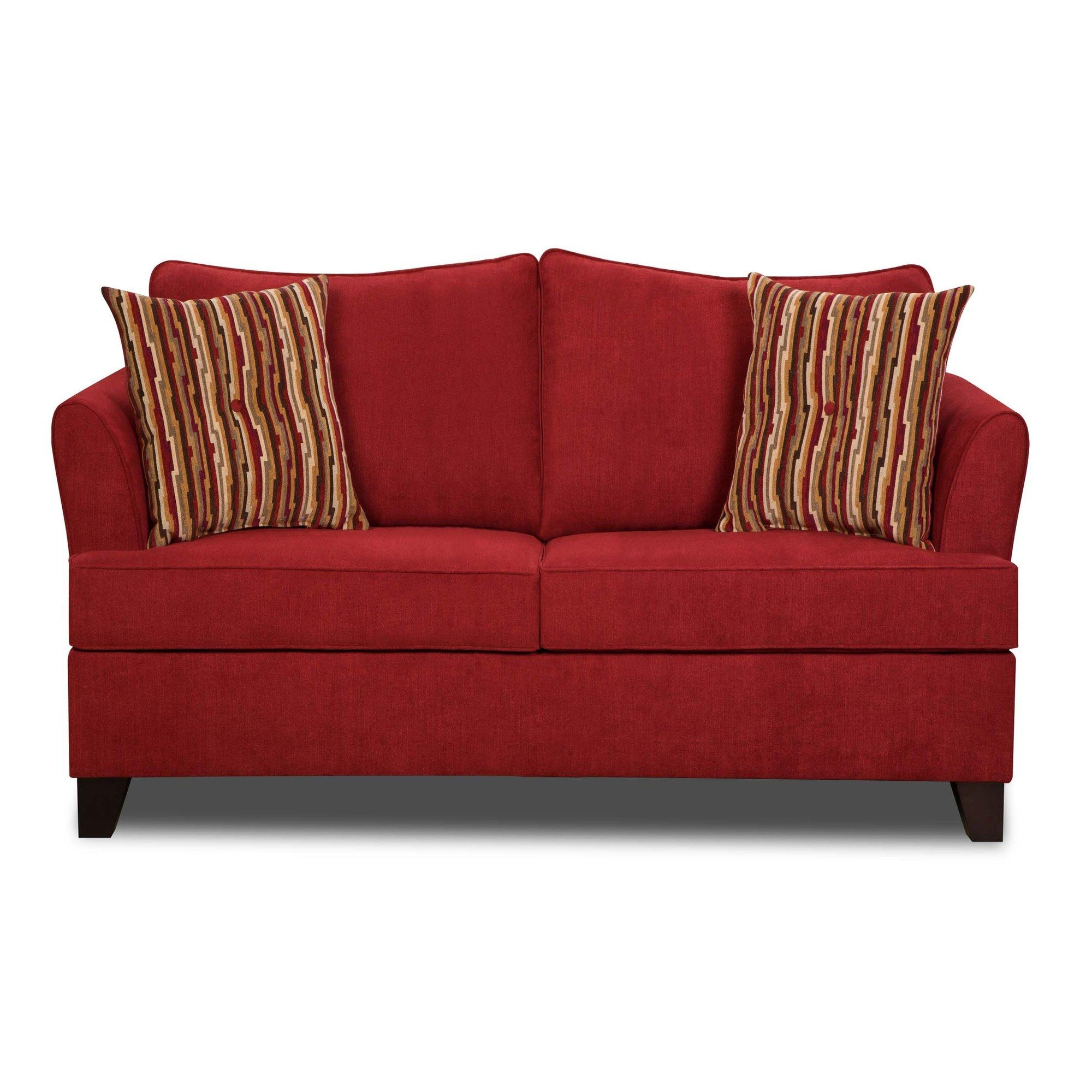Furniture: Using Comfy Simmons Sleeper Sofa For Home Furniture In Red Sleeper Sofa (Image 7 of 20)