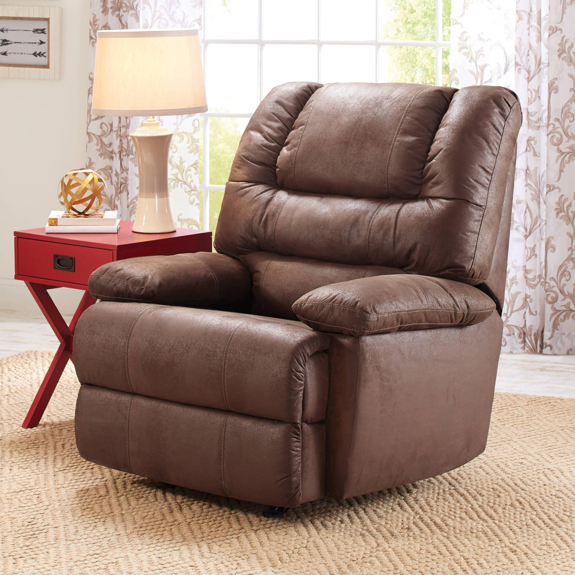 Furniture: Walmart Recliners For Comfortable Armchair Design Ideas Inside Big Sofa Chairs (View 20 of 20)