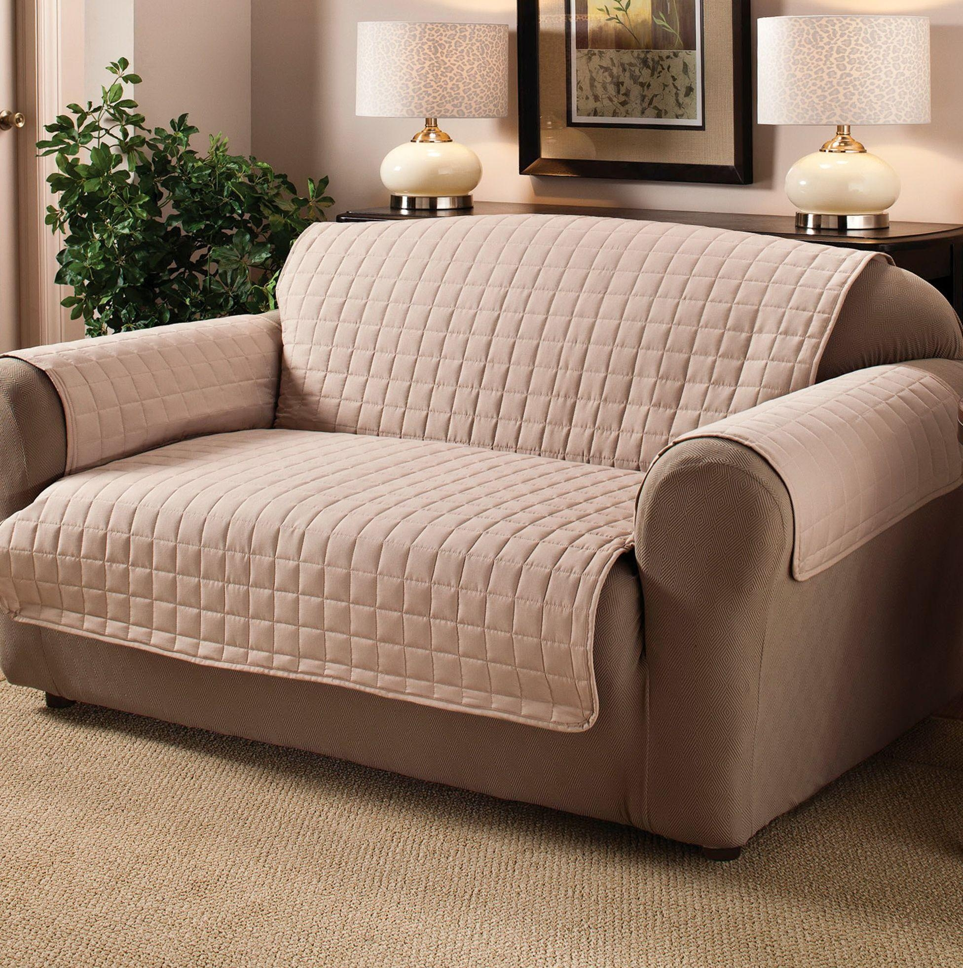 Furniture: Wonderful Walmart Couch Covers Design For Alluring Pertaining To Suede Slipcovers For Sofas (Image 4 of 20)