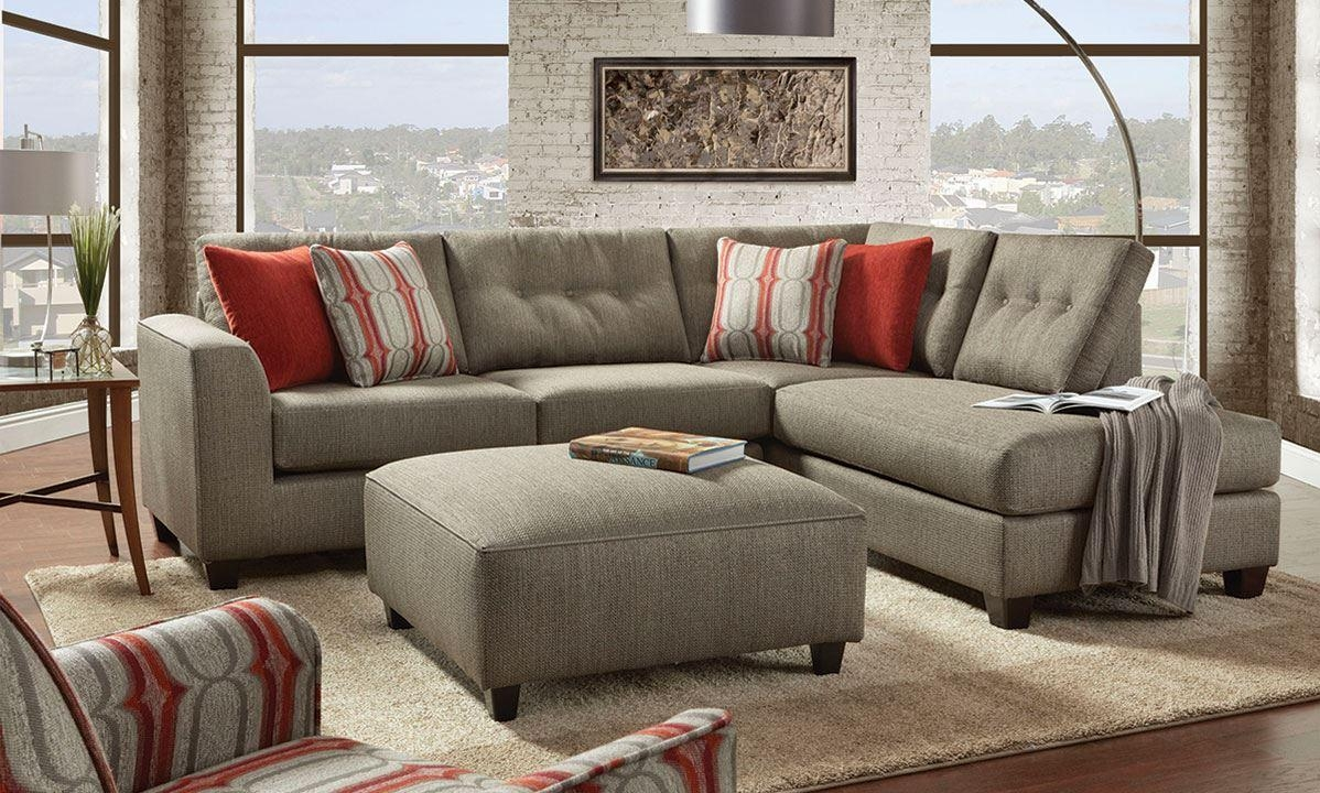 Fusion Handmade American Chaise Sectional Sofa With Ottom   The Throughout Sectional With Ottoman And Chaise (Image 12 of 20)