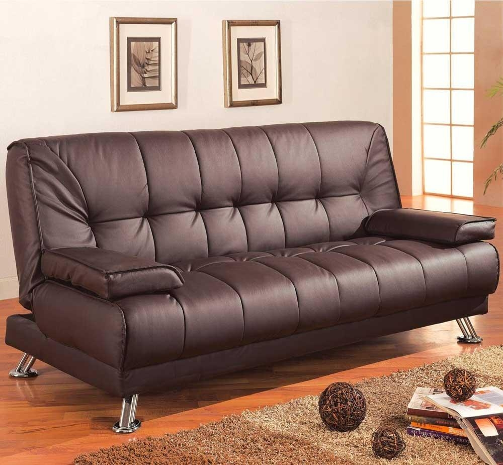 Futon Leather Sofa With Concept Photo 28974 | Kengire Within Leather Fouton Sofas (Image 11 of 20)