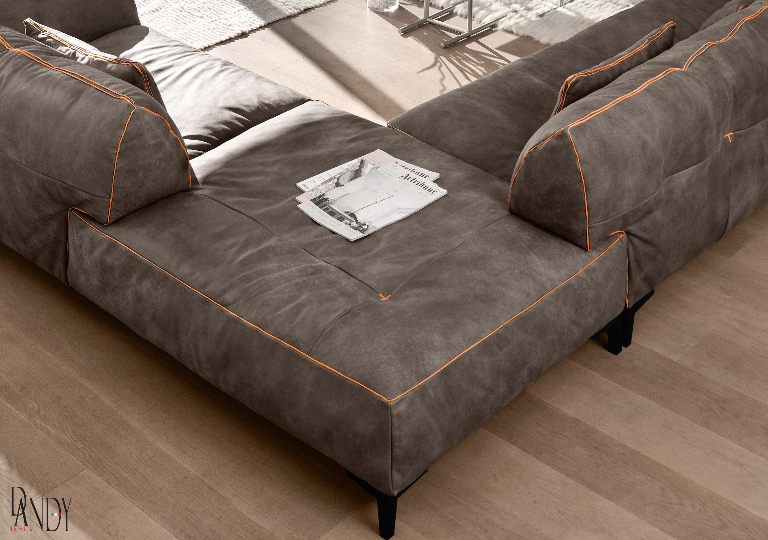 Gamma Arredamenti – Neo Furniture In High End Leather Sectional Sofa (Image 4 of 15)