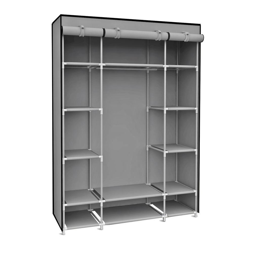 Garment Racks & Portable Wardrobes – Closet Storage & Organization Throughout On The Go With A Portable Wardrobe Closet (Image 4 of 27)