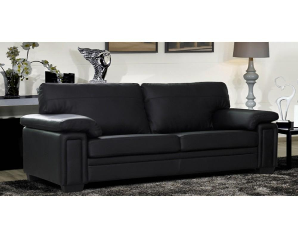 Gb-840 Black Leather Sofa Set - S3Net - Sectional Sofas Sale intended for Black Leather Sofas And Loveseats