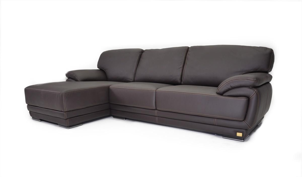 Geneve Italian Leather Sectional Sofa Pertaining To Full Grain Leather Sofas (View 4 of 20)