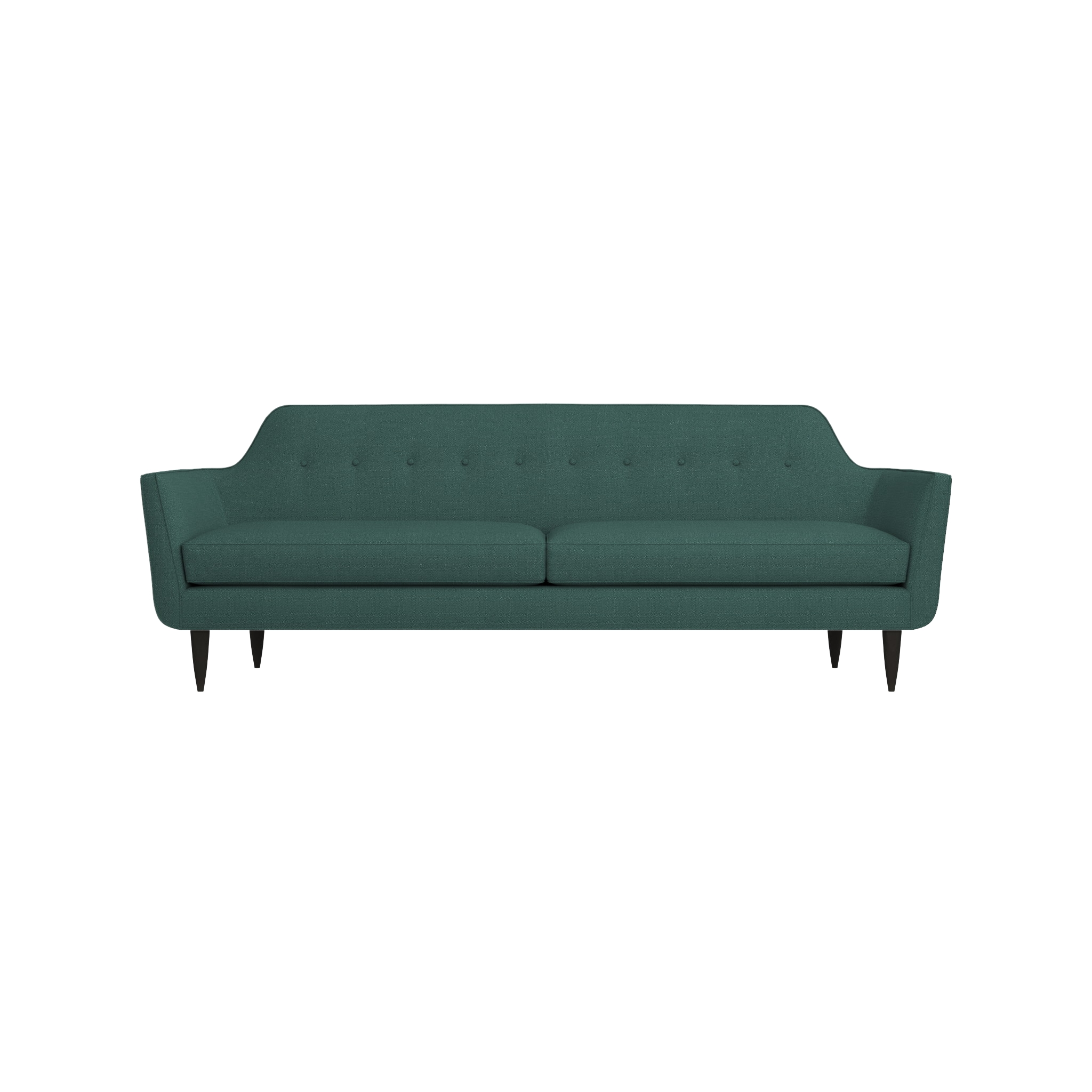 Gia Modern Blue Tufted Sofa | Crate And Barrel within Crate and Barrel Futon Sofas