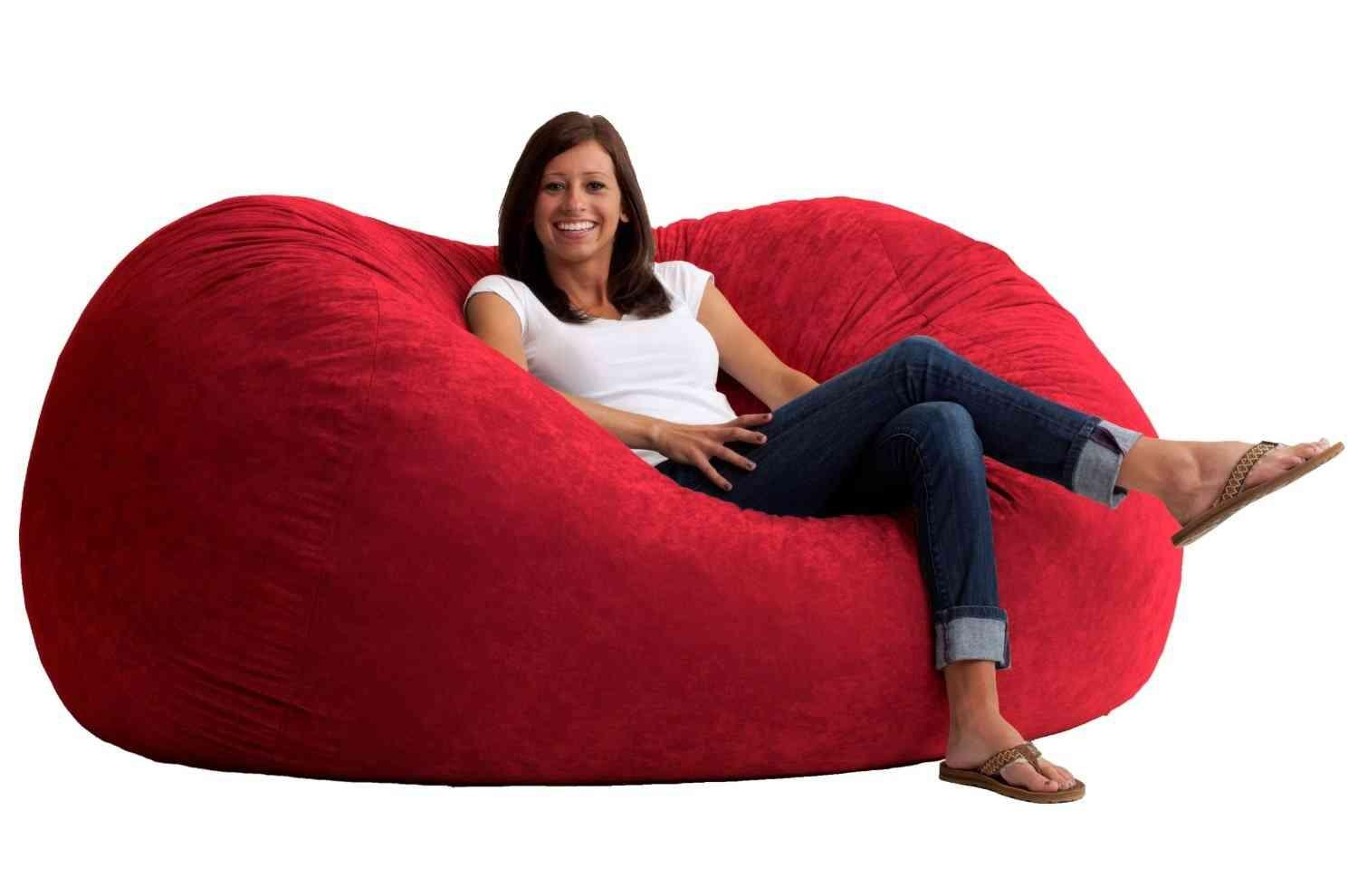 Giant Bean Bag Chair Lounger – Breakyourpiggybank For Giant Bean Bag Chairs (View 6 of 20)