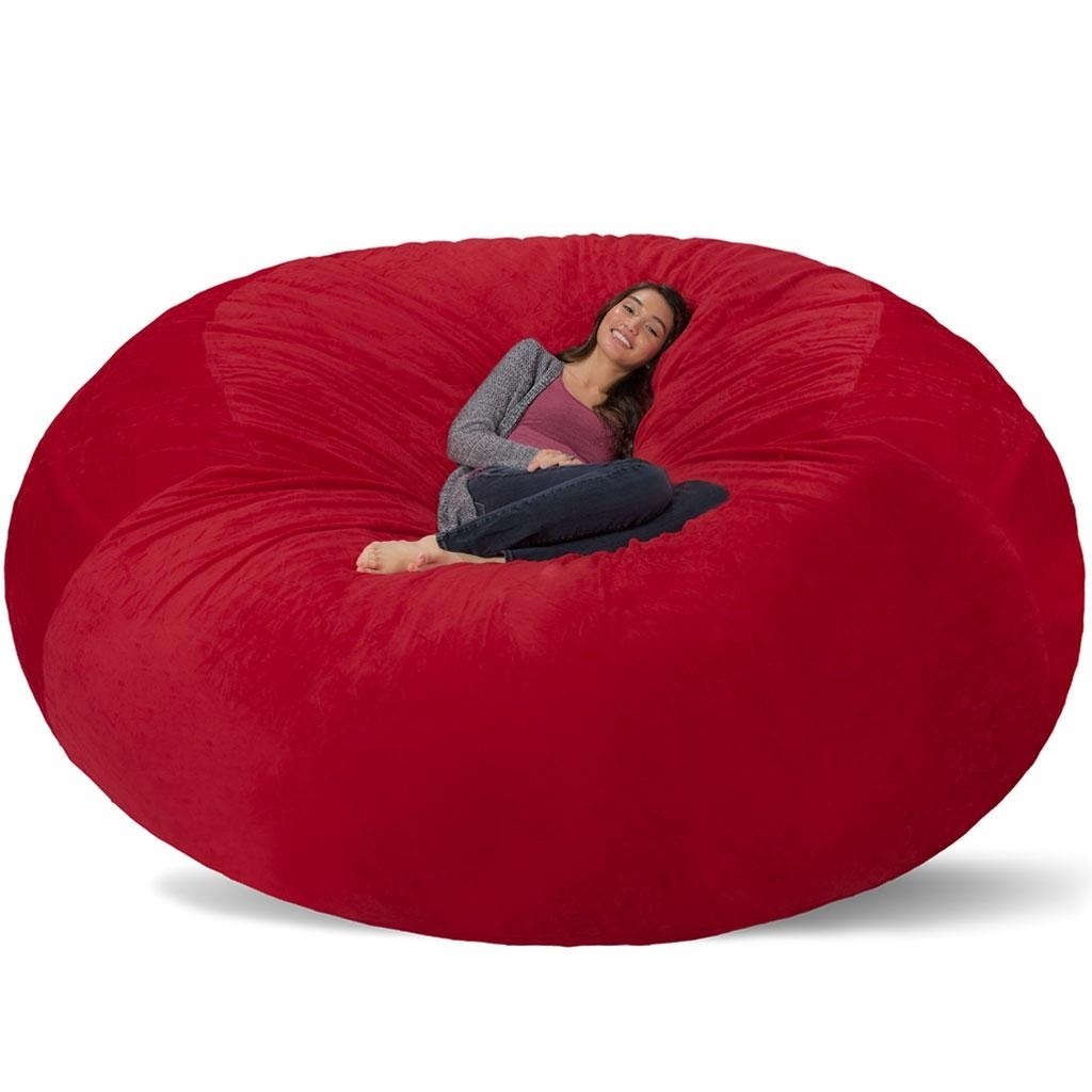 Giant Bean Bag – Huge Bean Bag Chair – Extra Large Bean Bag For Giant Bean Bag Chairs (View 2 of 20)