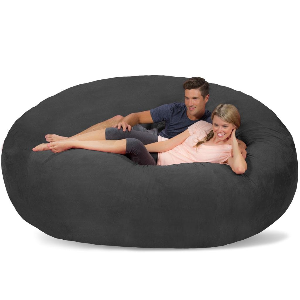 Giant Bean Bag - Huge Bean Bag Chair - Extra Large Bean Bag throughout Giant Bean Bag Chairs