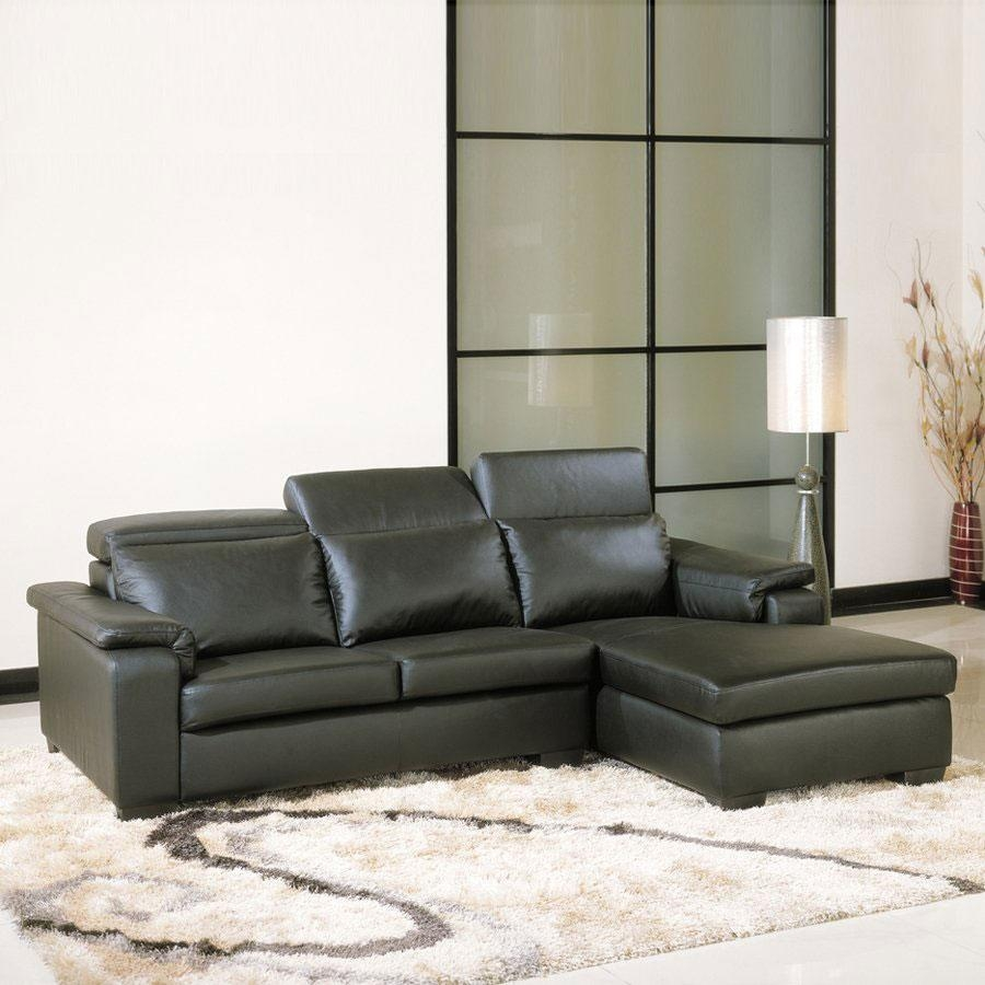 Glendale Sectional Sofa With Chaise In Burgundy Italian Leather With Regard To Angled Chaise Sofa (Image 11 of 20)