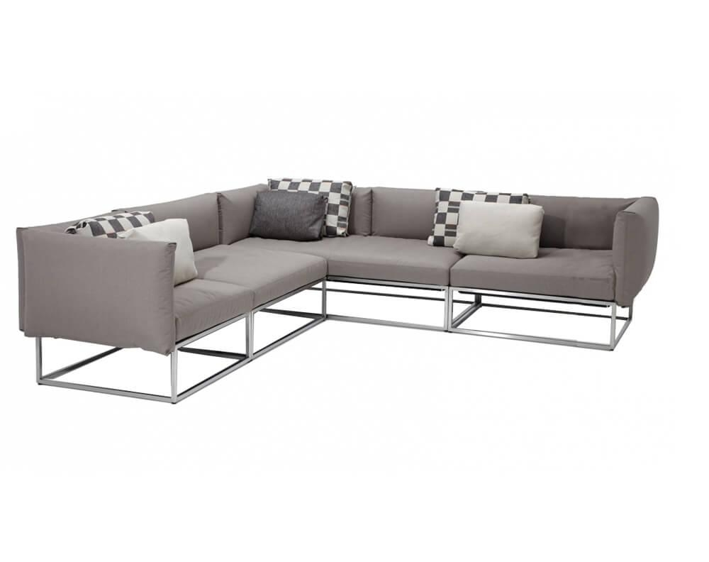 Gloster Cloud Sectional: Stainless Modular Outdoor Seating For Cloud Sectional Sofas (Image 11 of 20)