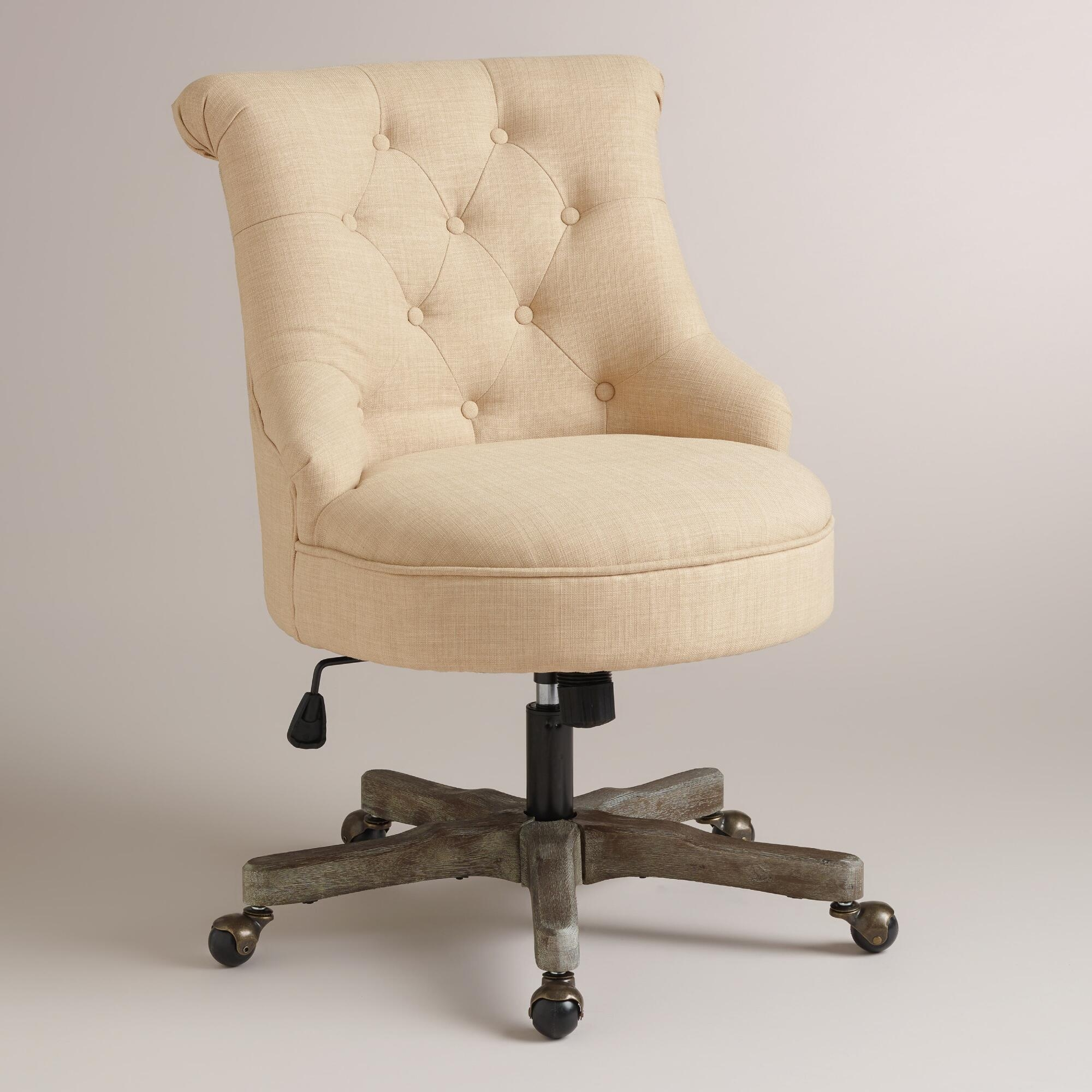 Good Looking Upholstered Desk Chair Pertaining To Sofa Desk Chairs (Image 4 of 20)