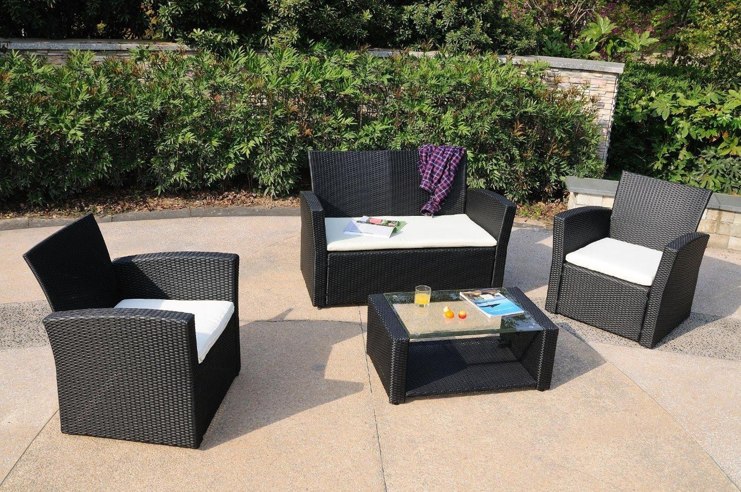 Gorgeous Weatherproof Rattan Garden Furniture Decor Remarkable Within Black Wicker Sofas (View 14 of 20)