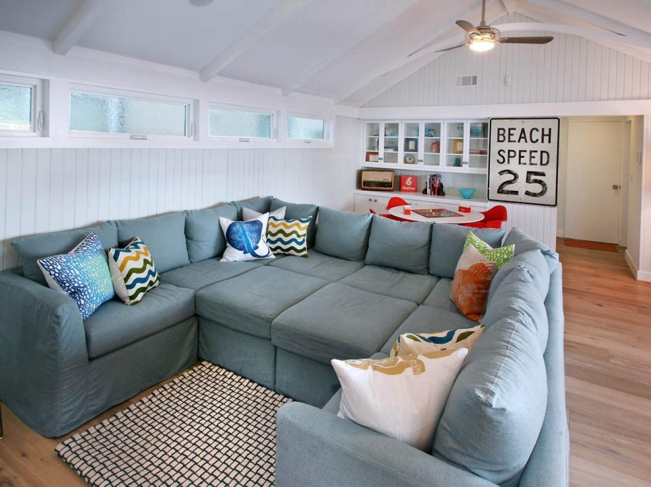 Gray Canvas Deep Oversized Sectional Sofa With Chaise Lounge And Intended For Oversized Sectional (Image 7 of 20)