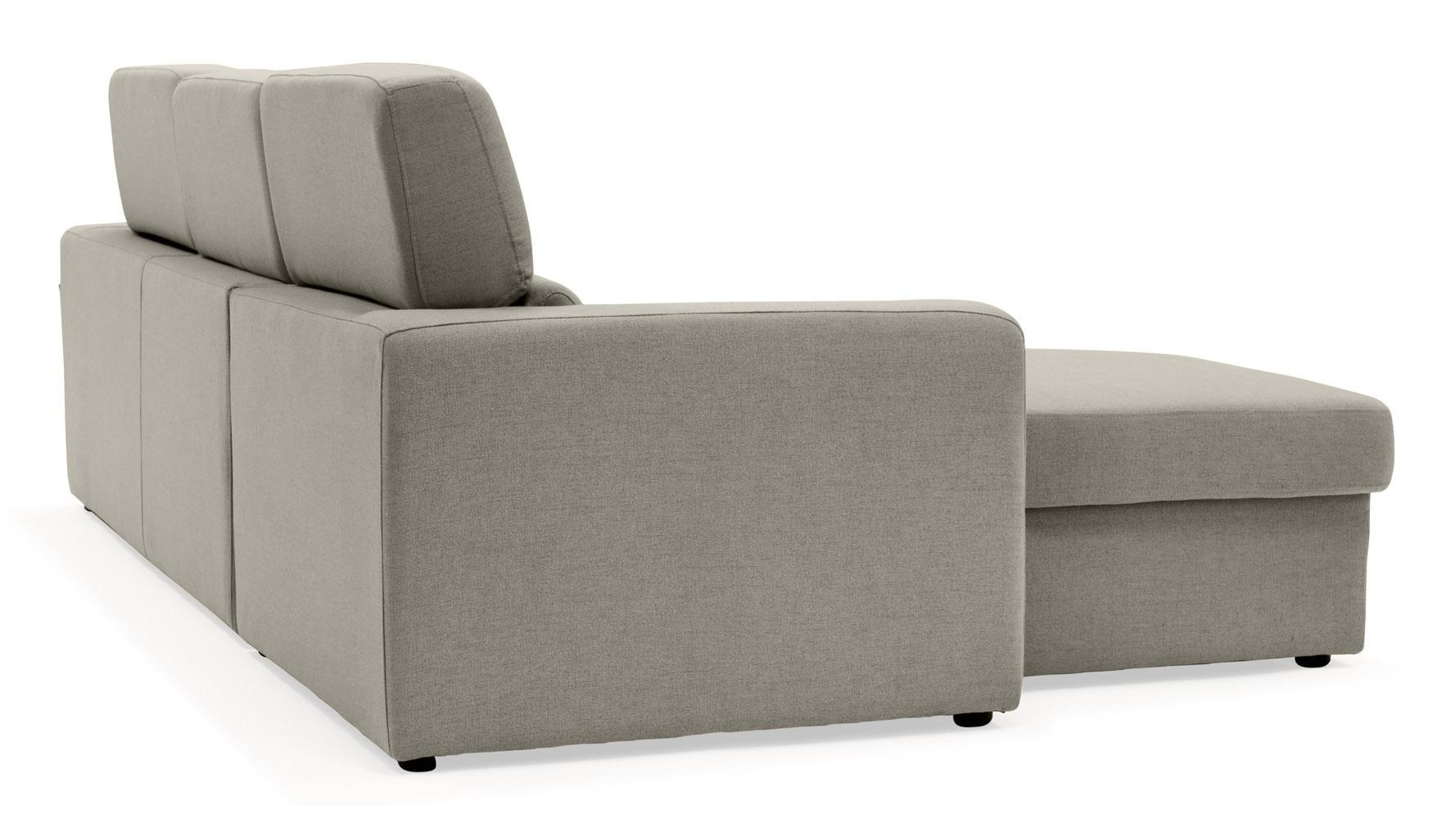 Gray Clubber Sleeper Sectional Sofa | Zuri Furniture In Sleeper Sectional Sofas (Image 7 of 20)