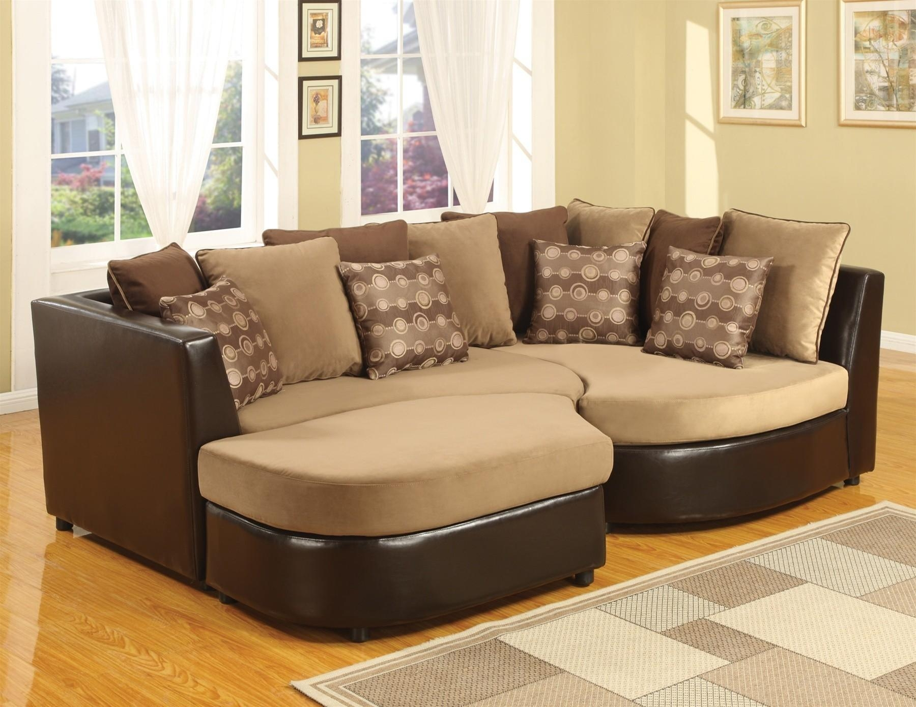 Gray Deep Seat Sectional With Large Ottoman And Chaise Lounge Of For Sectional With Large Ottoman (Image 5 of 20)