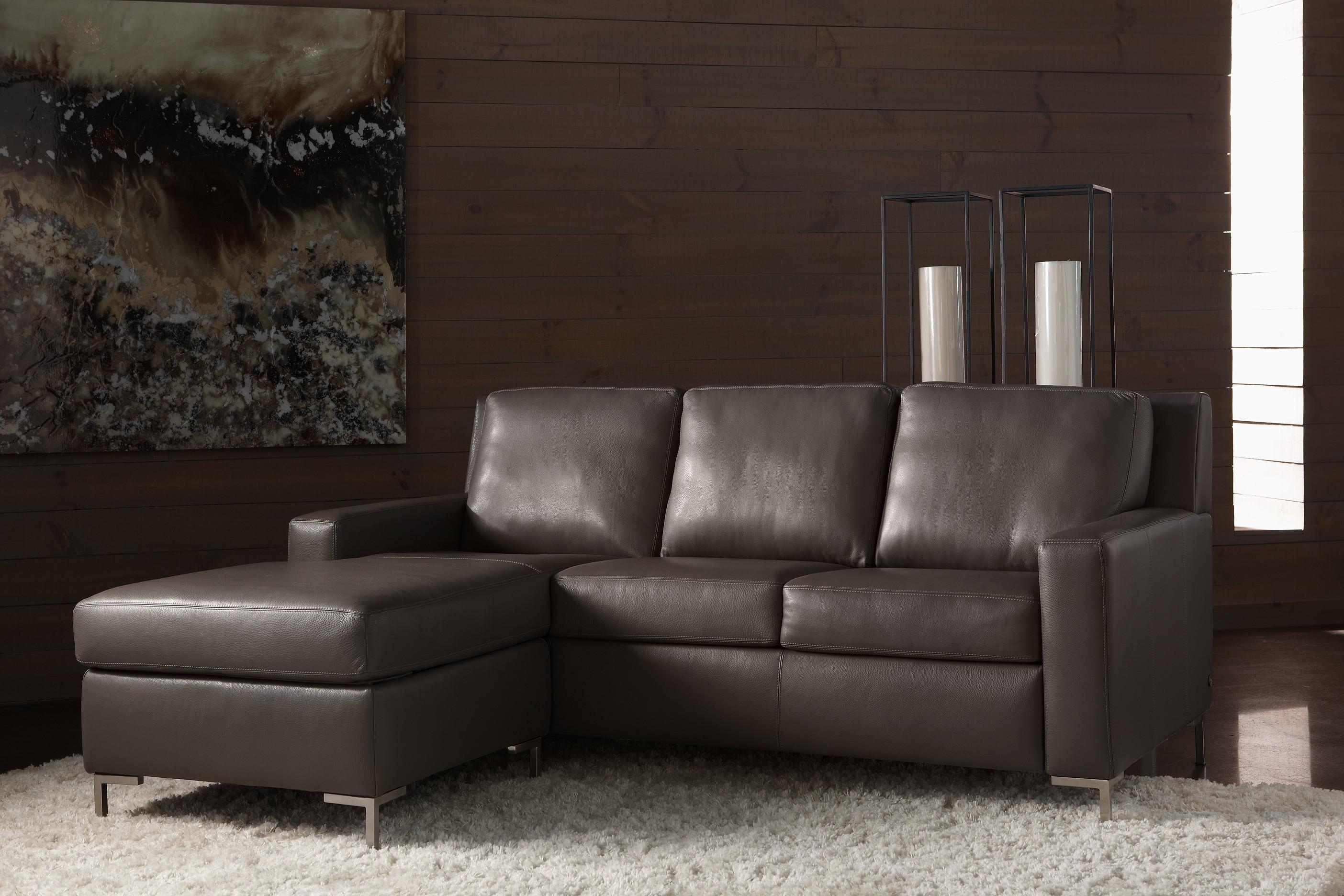Gray Leather Sofa. Grace Dark Gray Leather Sofa (View 11 of 20)