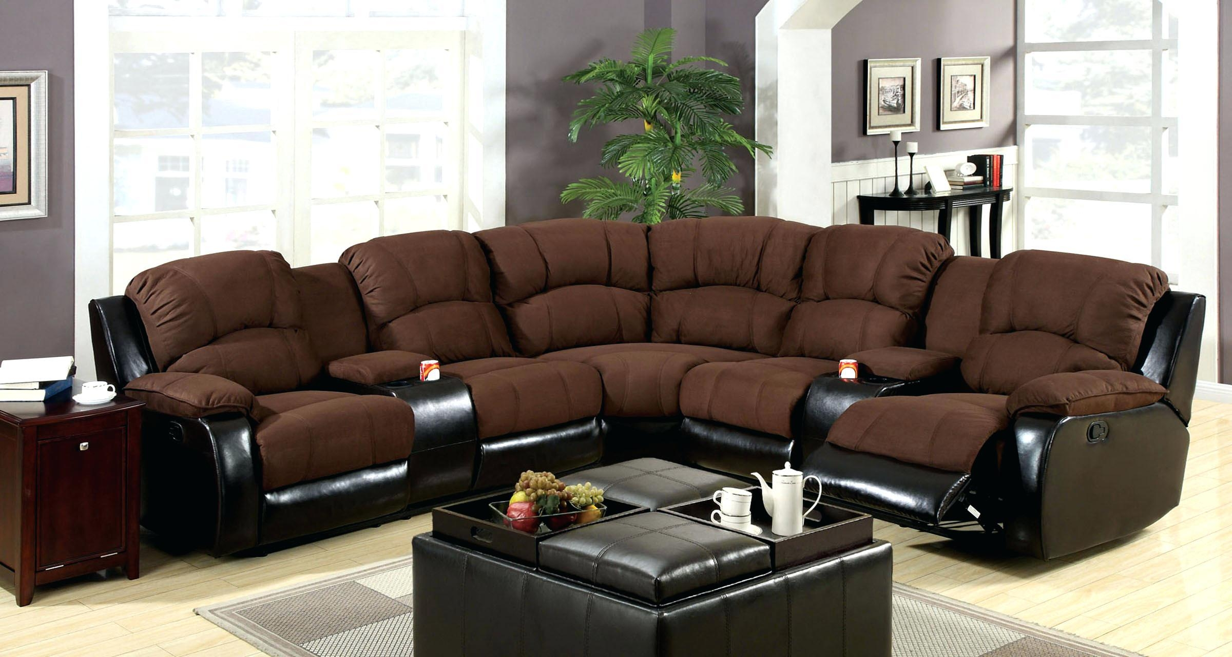 Gray Reclining Sectional Cup Holders A Hardy Bonded Leather With With Regard To Sectional With Cup Holders (Image 7 of 20)