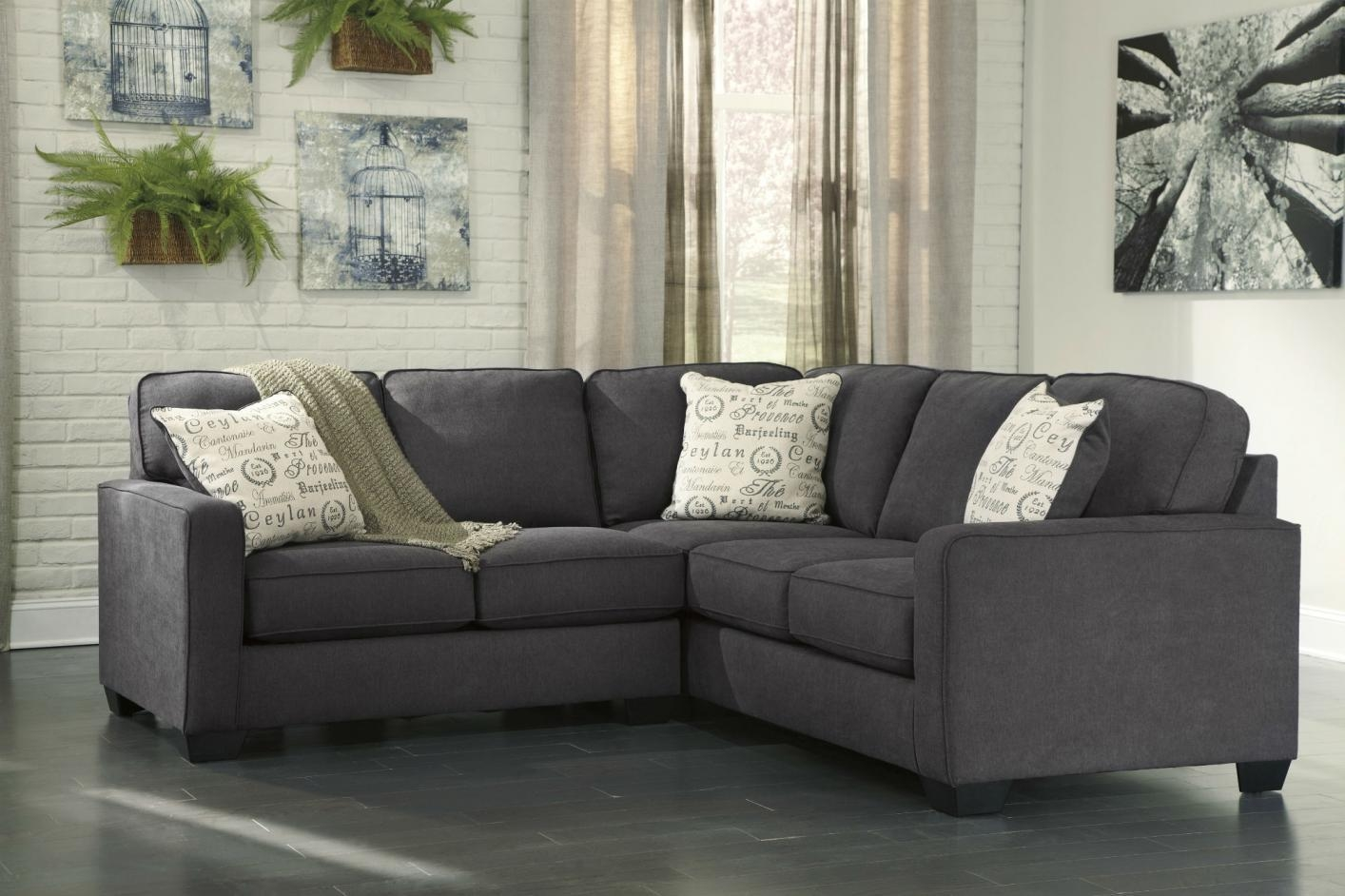 Gray Sectional Sofa Ashley Furniture | Tehranmix Decoration Intended For Charcoal Gray Sectional Sofas (Image 7 of 20)