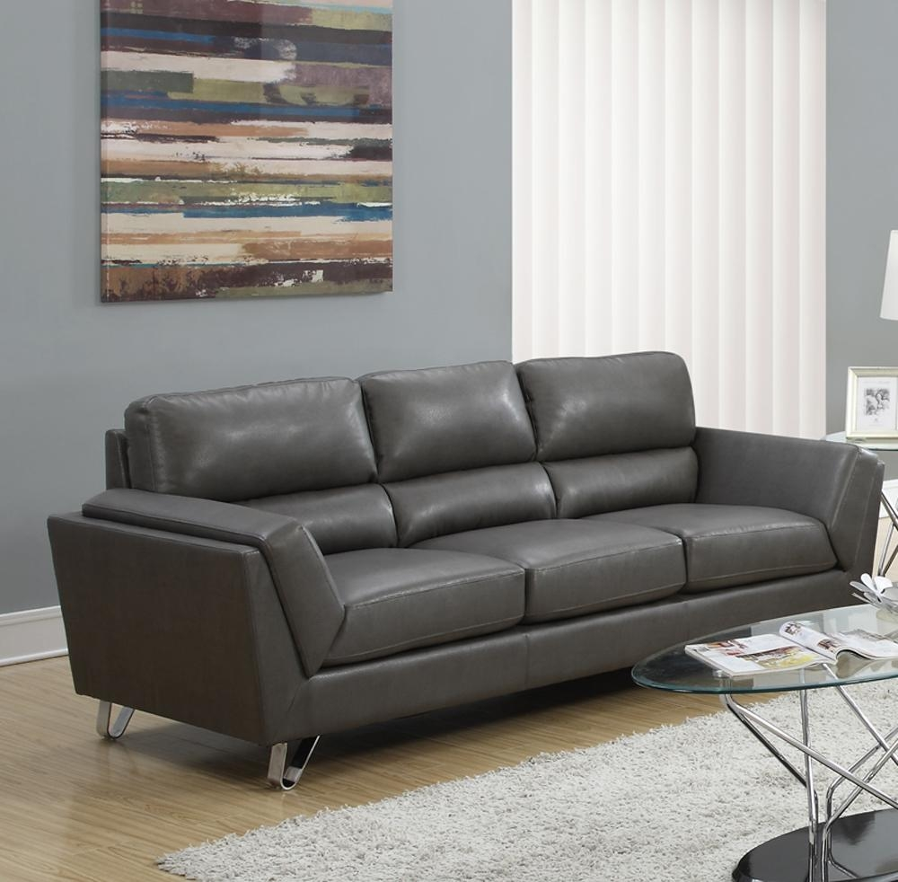 Gray Sofas For Sale Leather Within Charcoal Grey Leather Sofas (View 7 of 20)