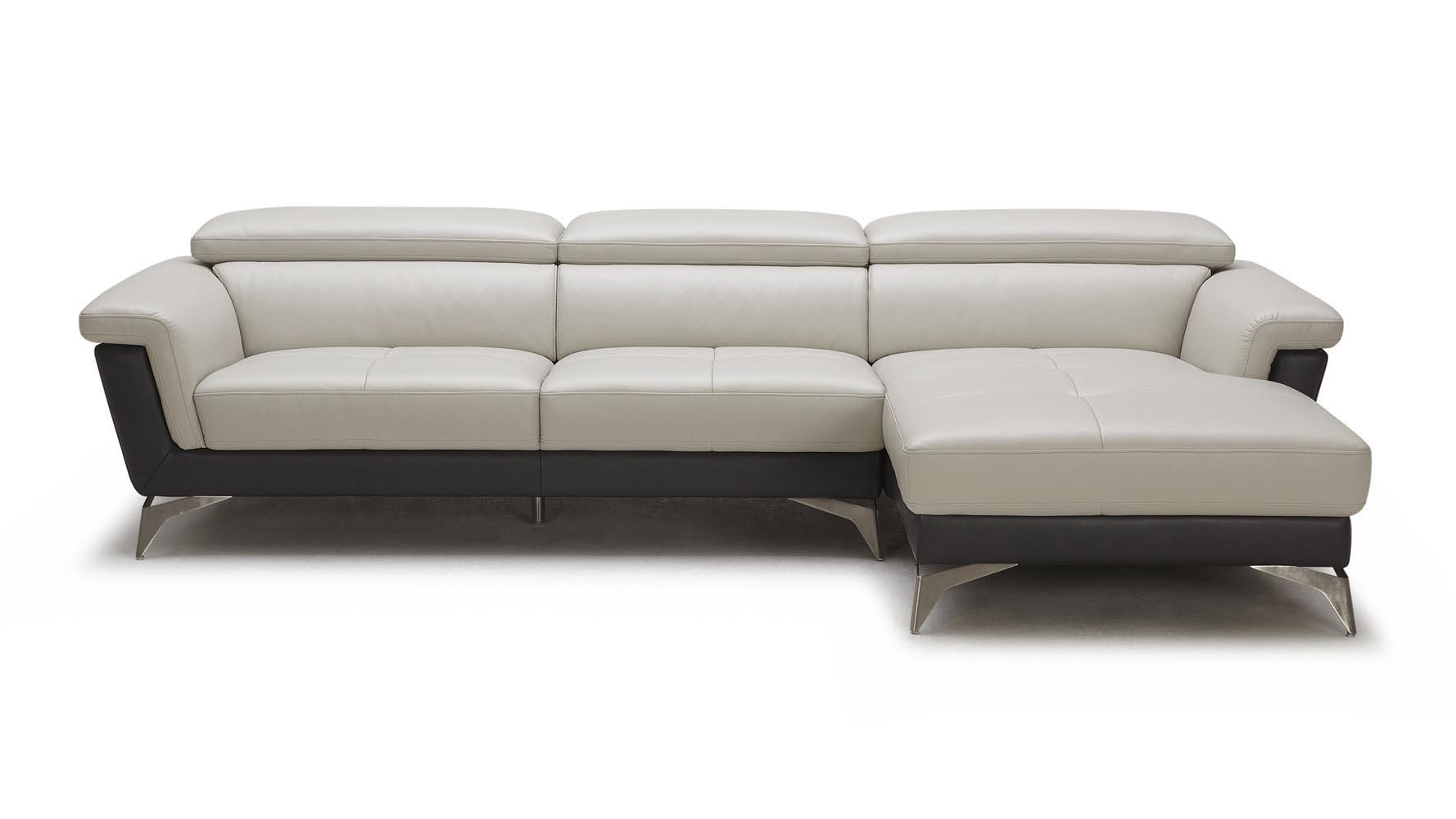 Gray/black Savoy 3 Seater Sectional Sofa | Zuri Furniture Within Savoy Sofas (Image 4 of 20)