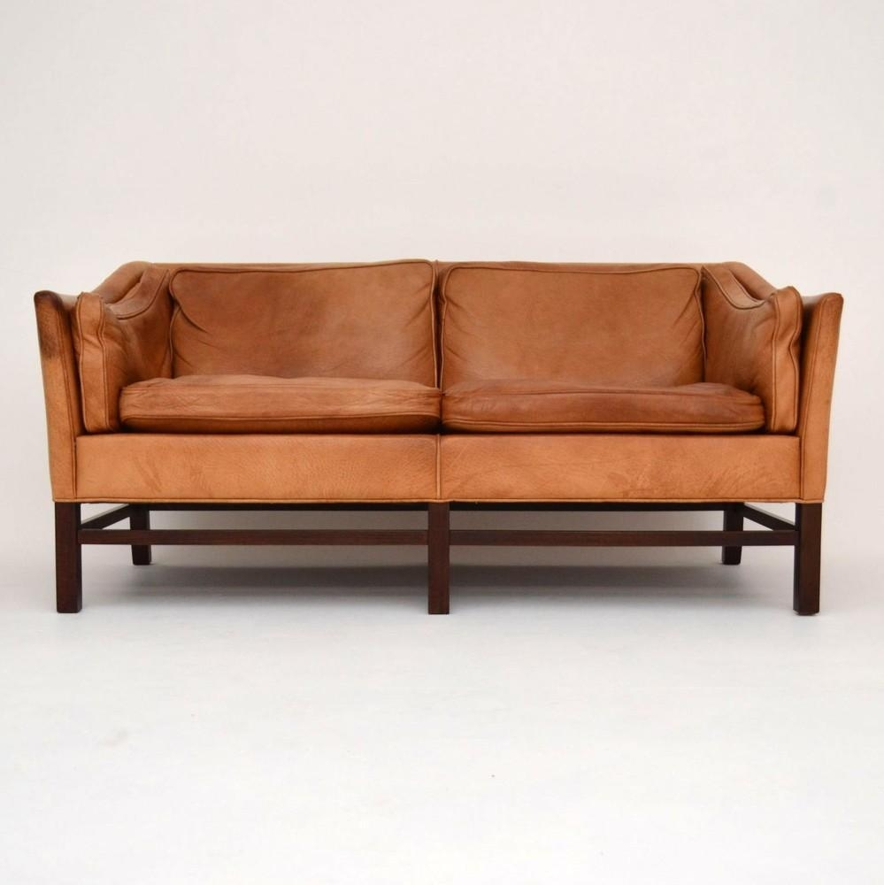 Great Vintage Leather Sofa - Myonehouse regarding Danish Leather Sofas