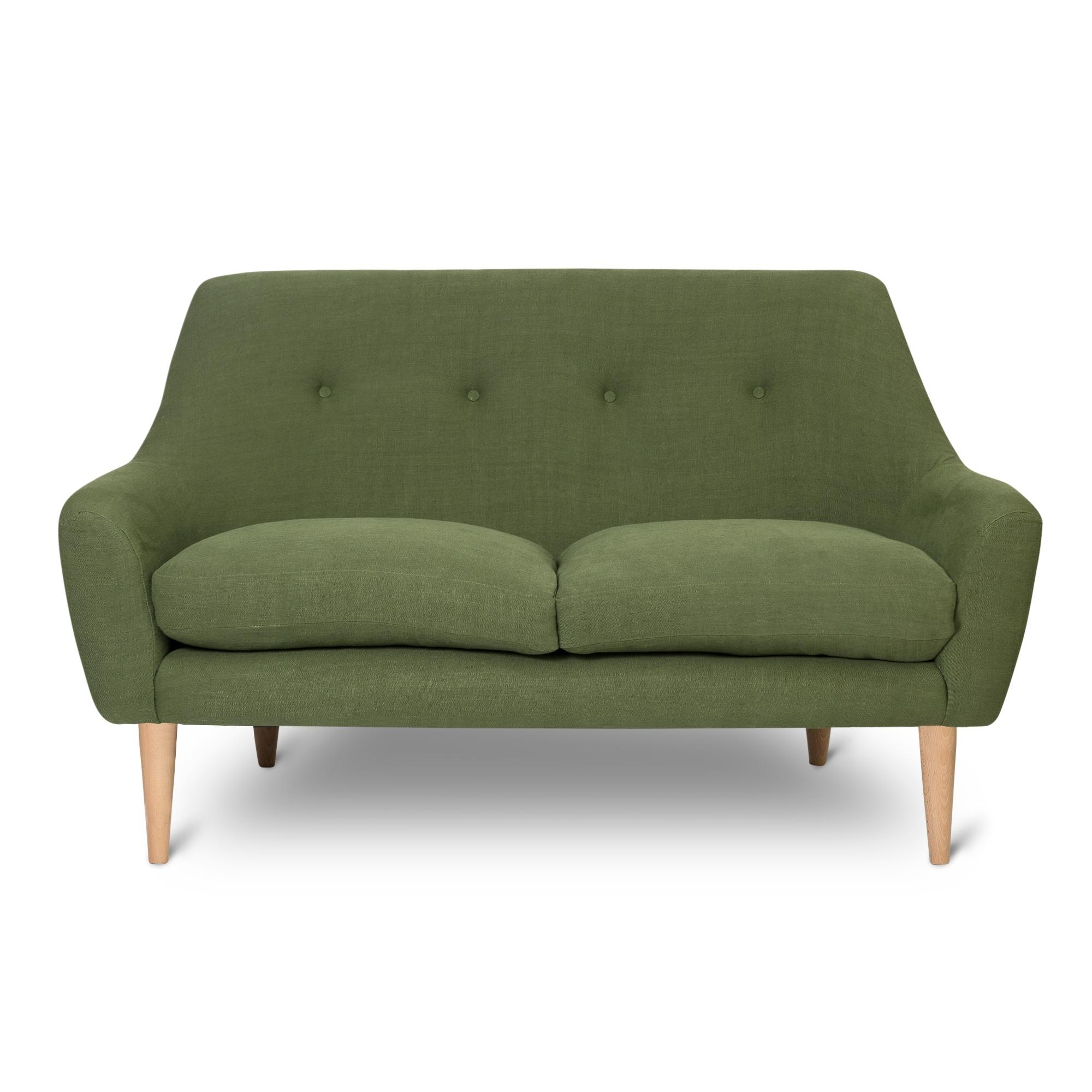 Green 1958 Two Seater Sofa | Oliver Bonas Inside Two Seater Sofas (Image 8 of 20)