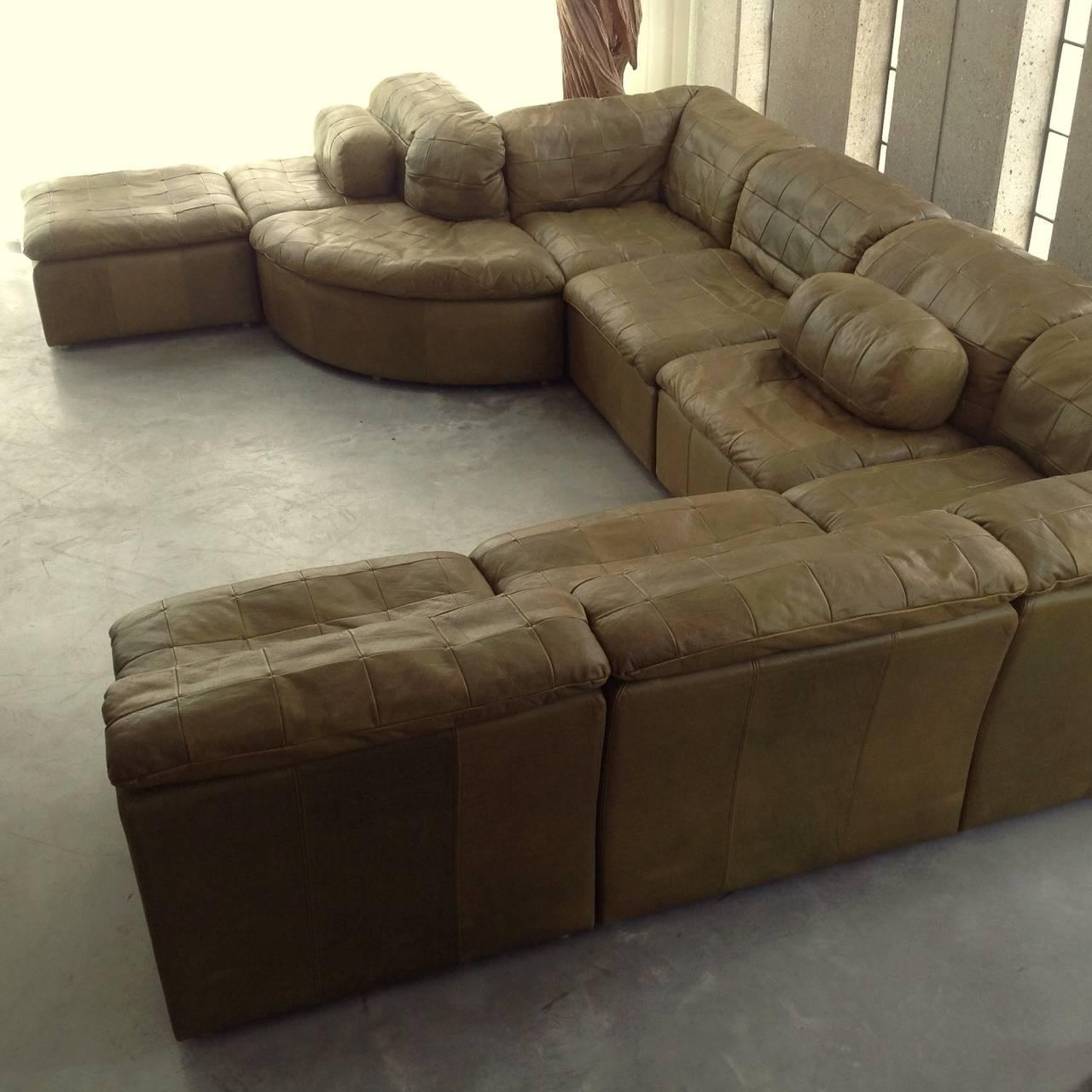 Green Leather Sectional Sofa 57 With Green Leather Sectional Sofa Intended For Green Leather Sectional Sofas (View 5 of 20)