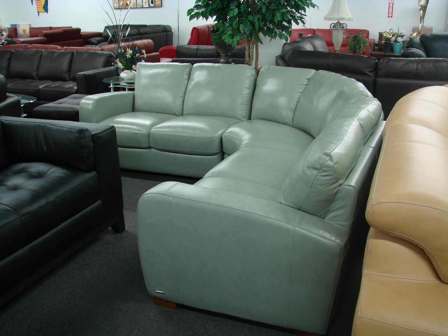 Green Leather Sectional Sofa With Inspiration Design 29132 in Green Leather Sectional Sofas