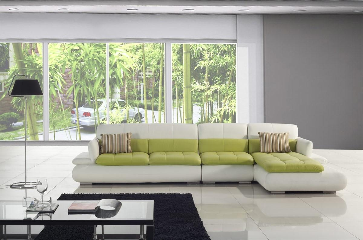 Green Leather Sofa - Creditrestore inside Green Leather Sectional Sofas