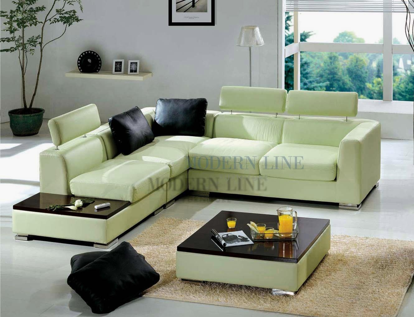 Green Leather Sofa - Creditrestore intended for Seafoam Green Couches