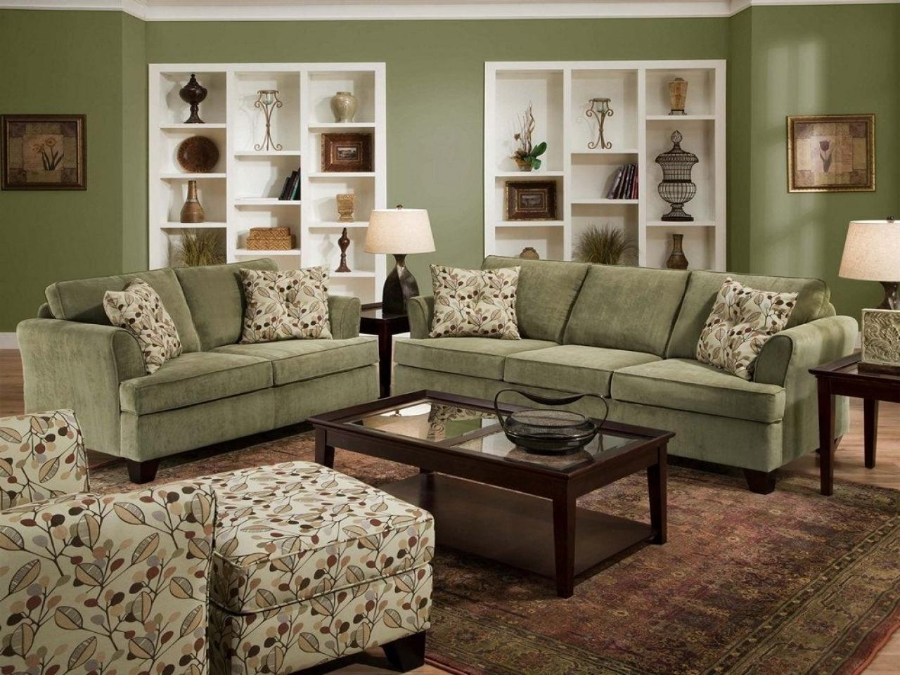 Green Microfiber Sofa With Design Picture 39085 | Kengire Regarding Green Microfiber Sofas (Image 13 of 20)