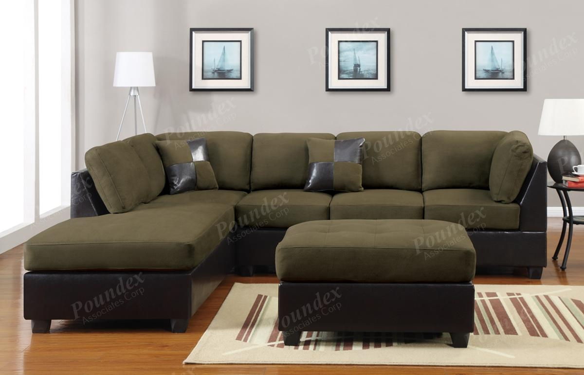 Green Sectional Sofa. 14 Green Sectional Sofa Pic Ideas Lawshorg throughout Green Leather Sectional Sofas
