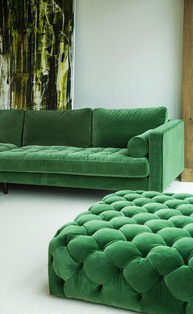 Featured Photo of Green Sofa Chairs