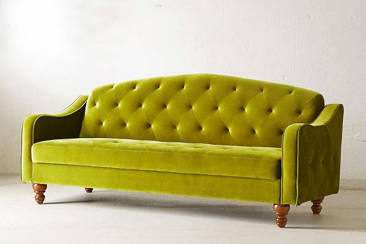 Green Velvet Sleeper Sofa | Tehranmix Decoration Throughout Microsuede Sleeper Sofas (Image 11 of 20)