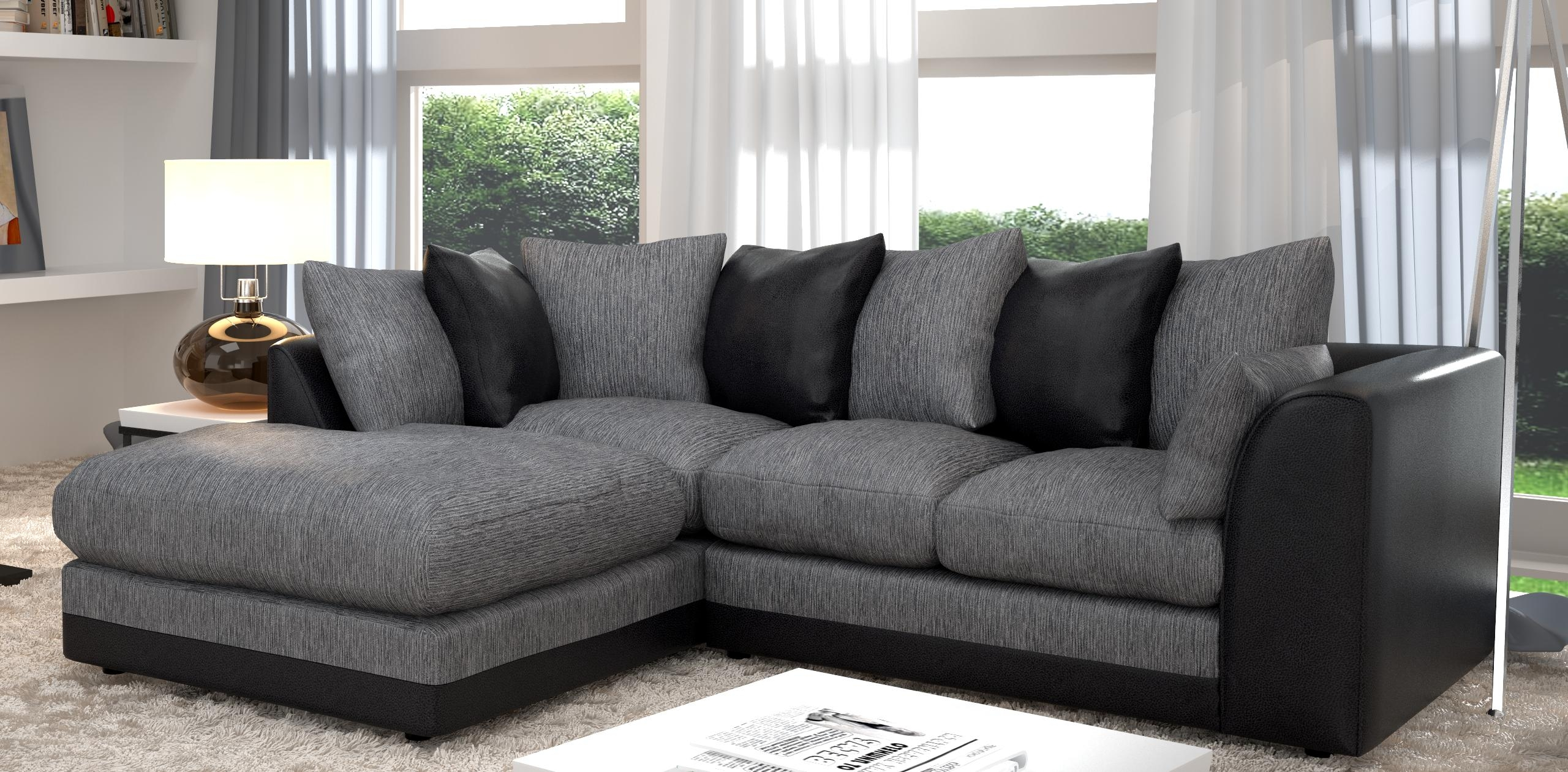 20 choices of black corner sofas sofa ideas for Black and grey sofa